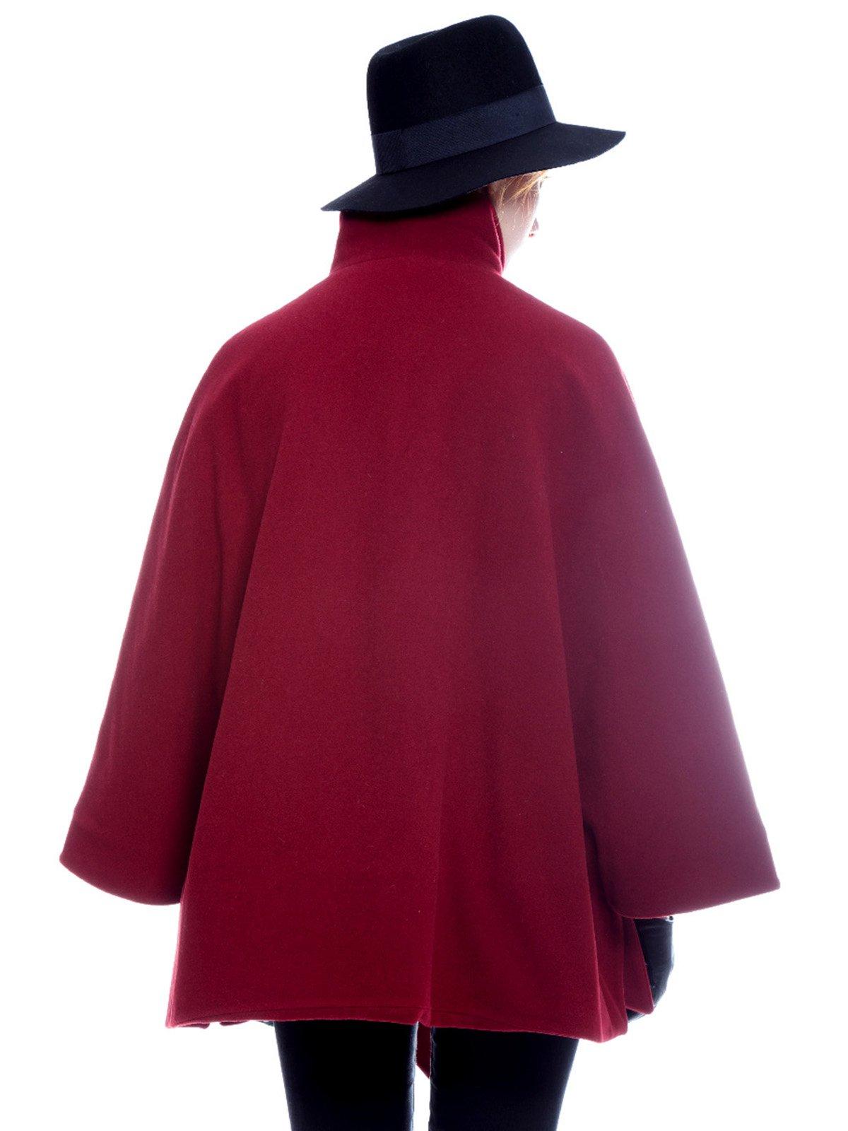 Пальто бордовое | 3652725 | фото 5