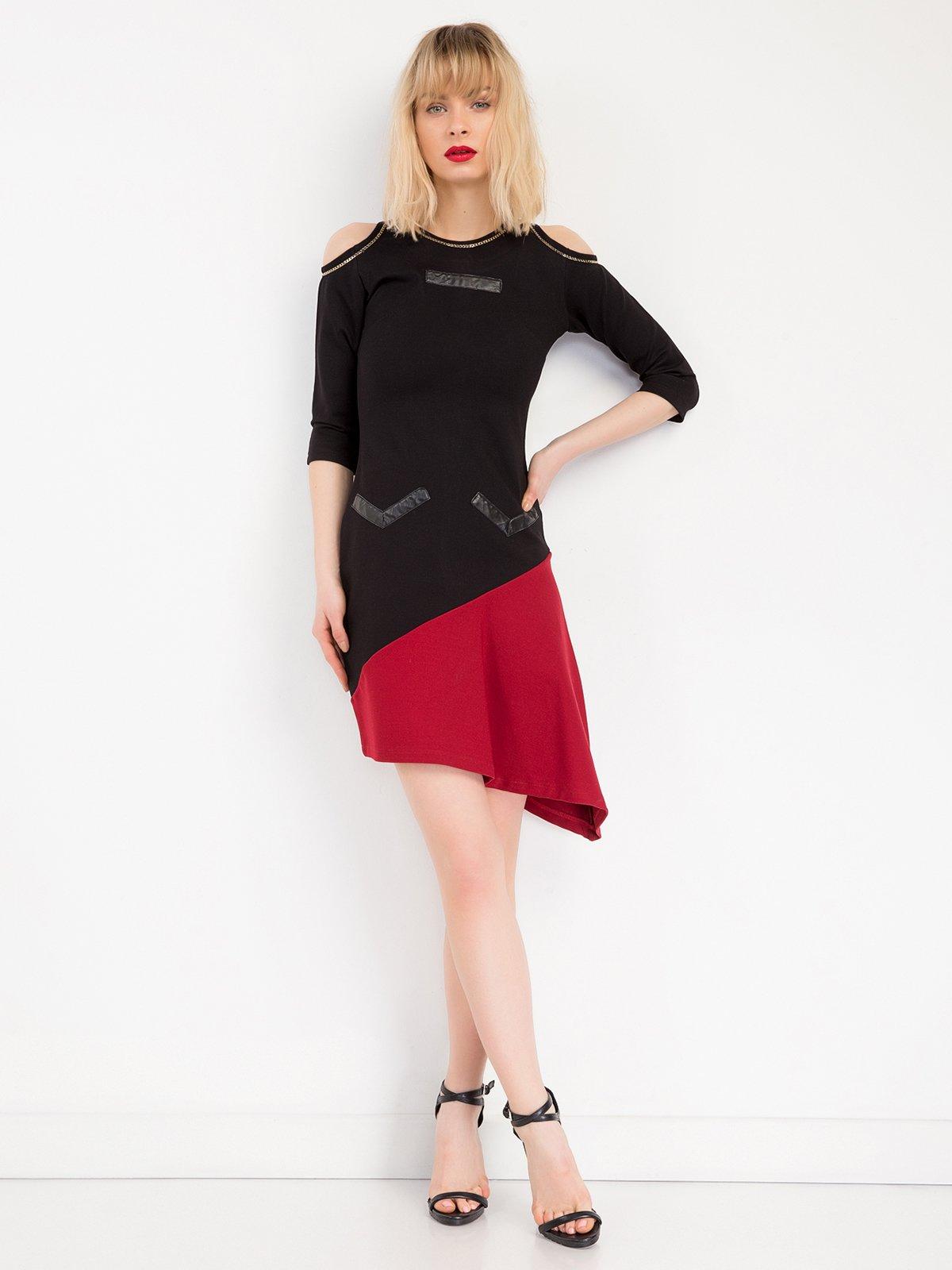 Сукня двоколірна | 3646580