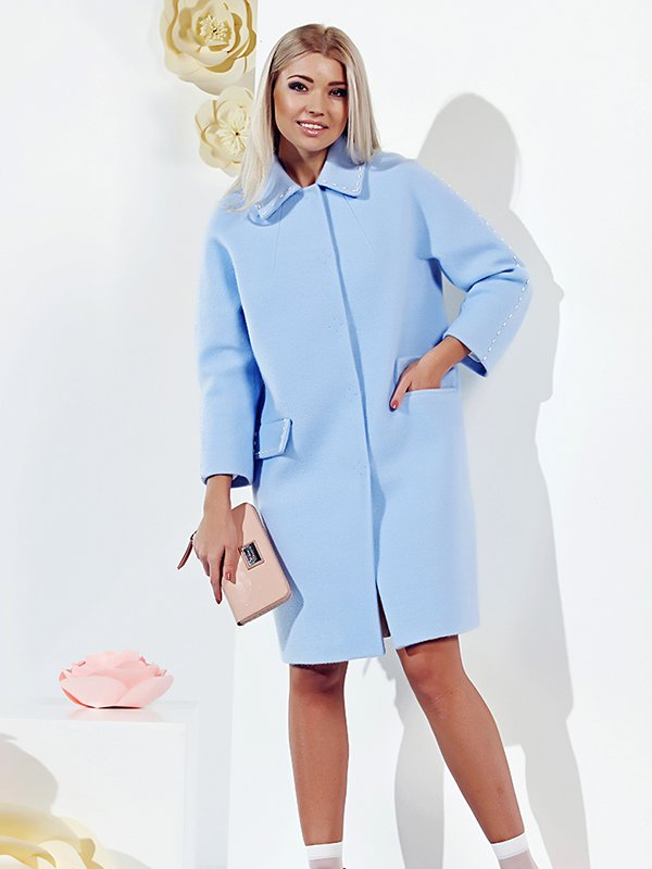 Пальто голубое | 3167897
