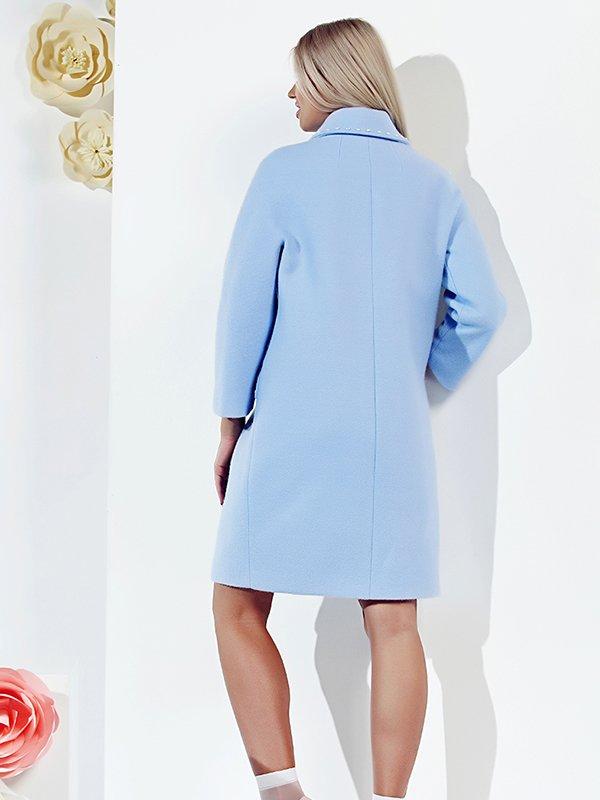 Пальто голубое | 3167897 | фото 4