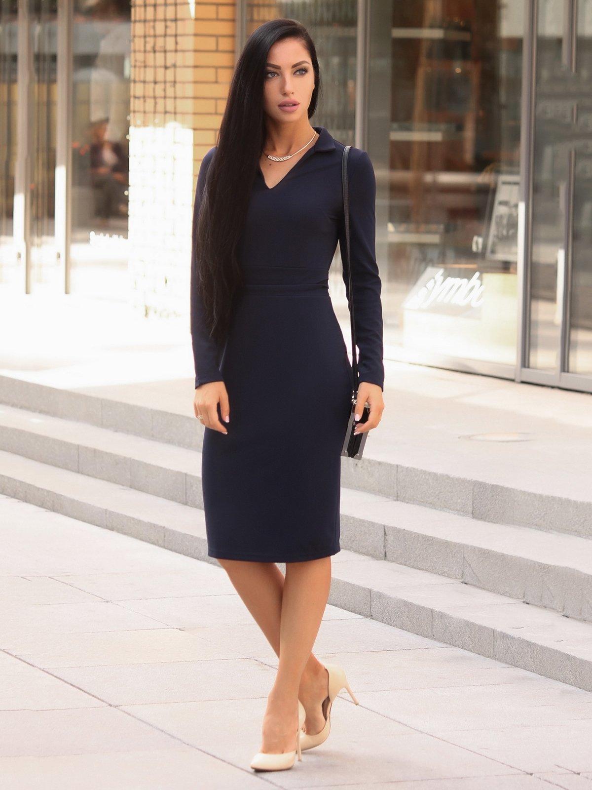 Платье темно-синее | 3657238