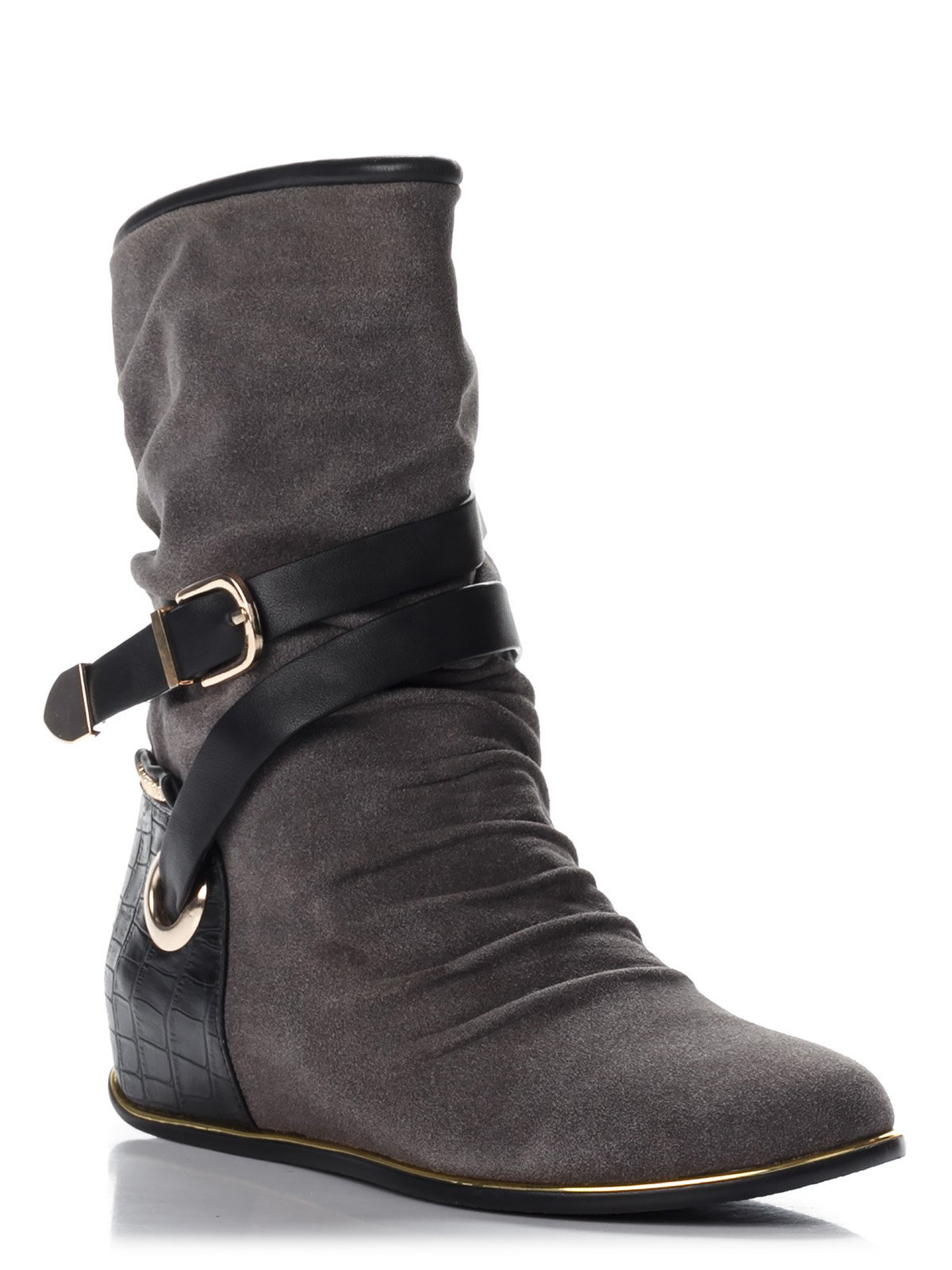 Ботинки серые | 3596352