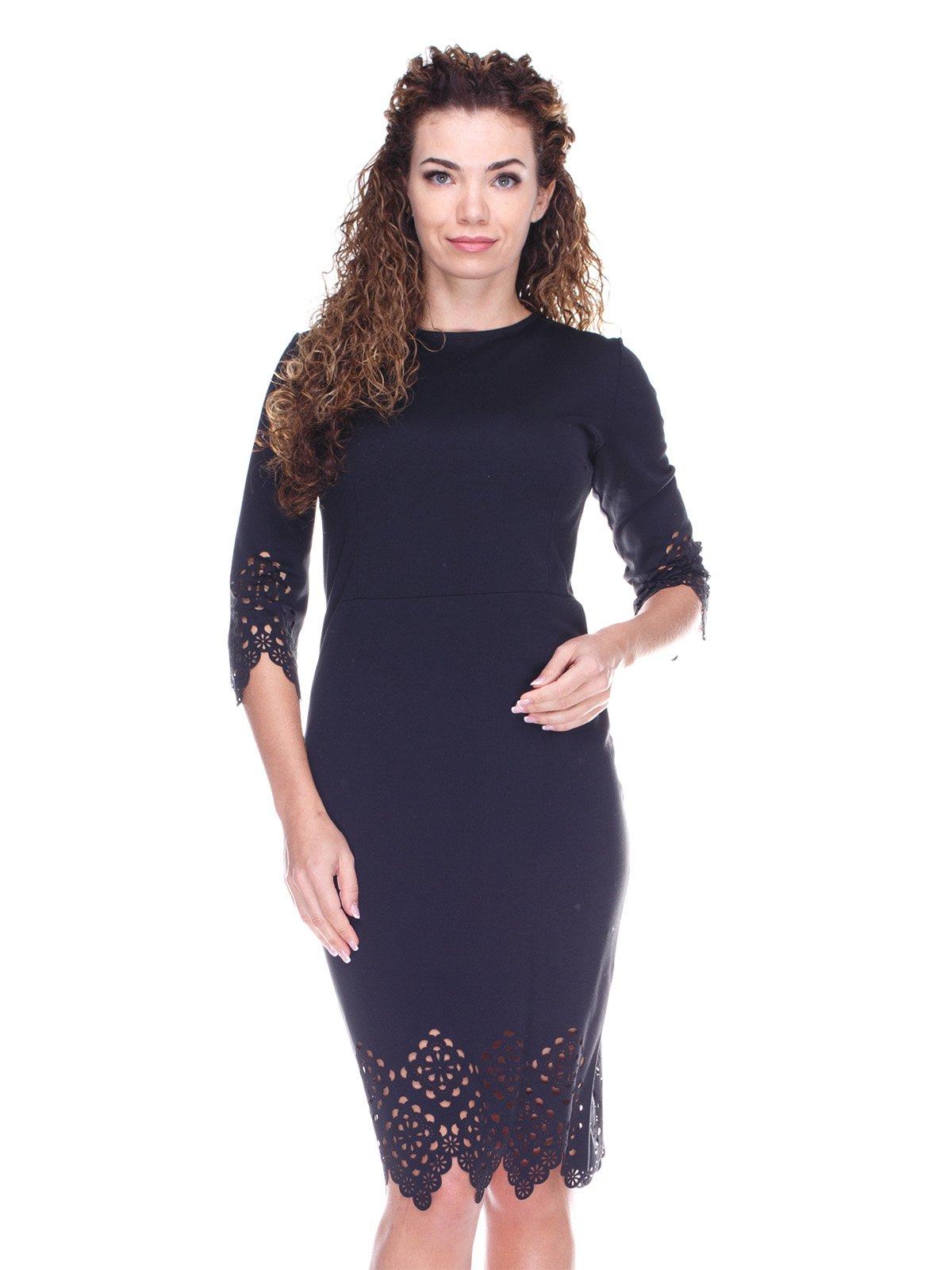 Сукня з перфорацією чорна | 3641985