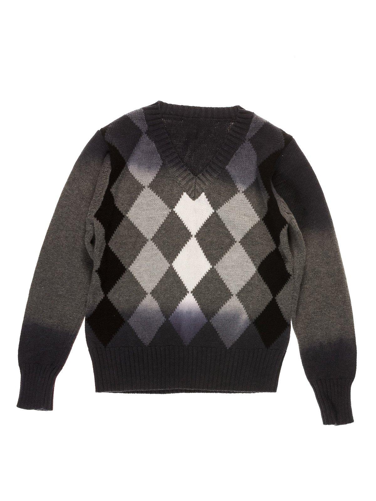 Пуловер сірий в ромби | 3644759