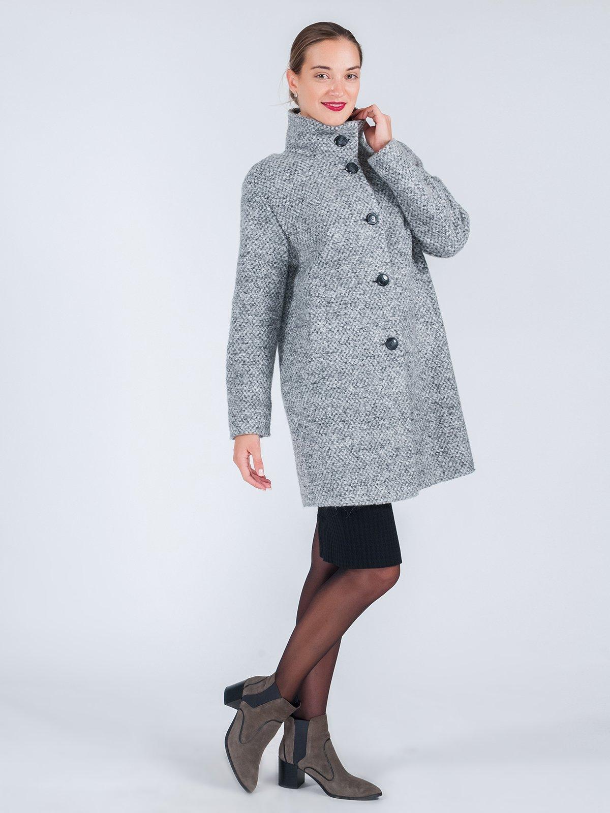 Пальто серое | 3667677 | фото 3