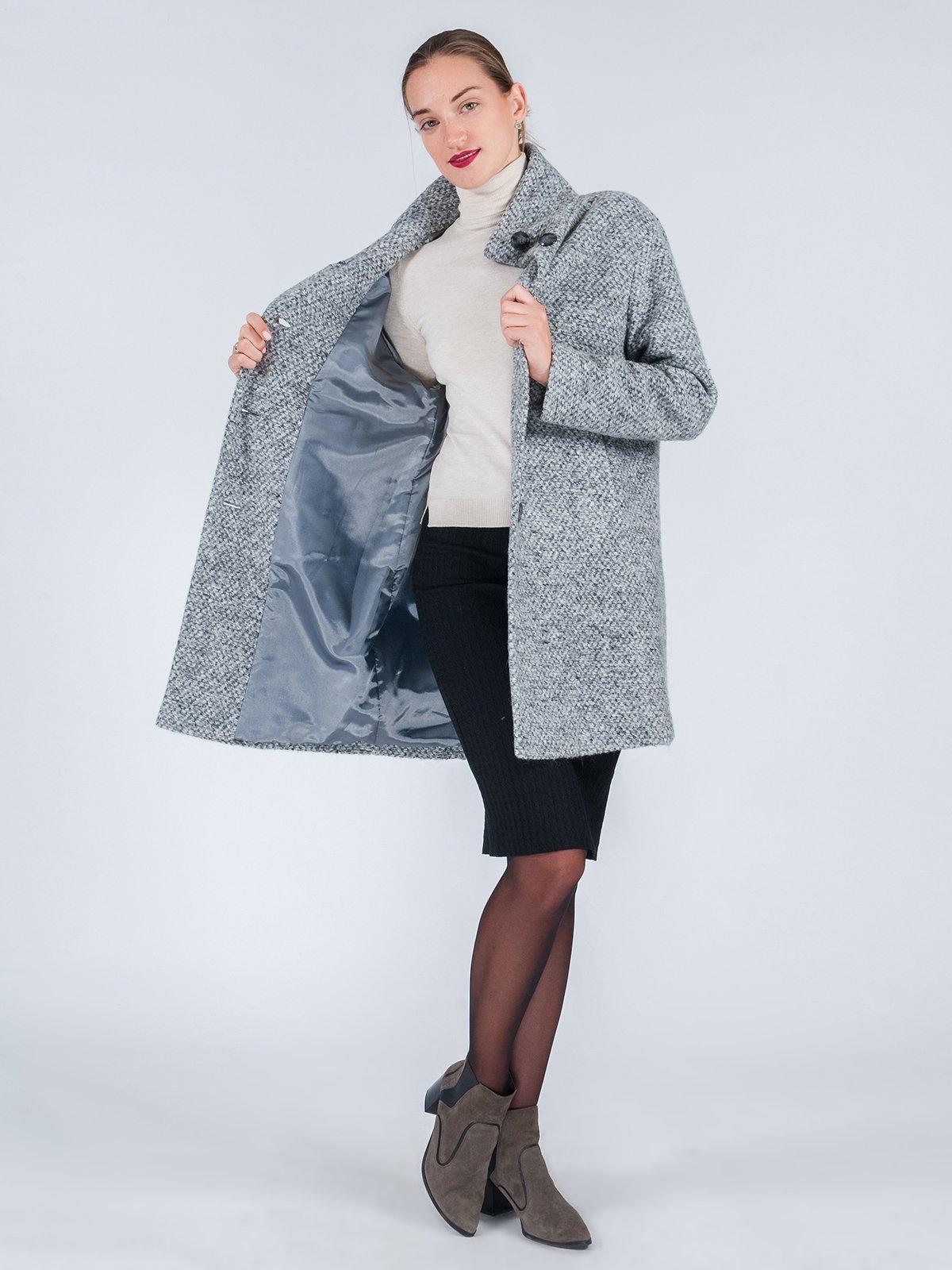 Пальто серое | 3667677 | фото 4