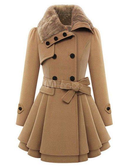 Пальто бежевое   3666272