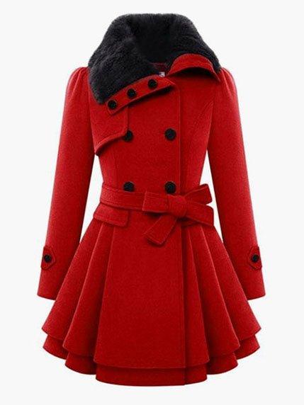 Пальто красное | 3666273