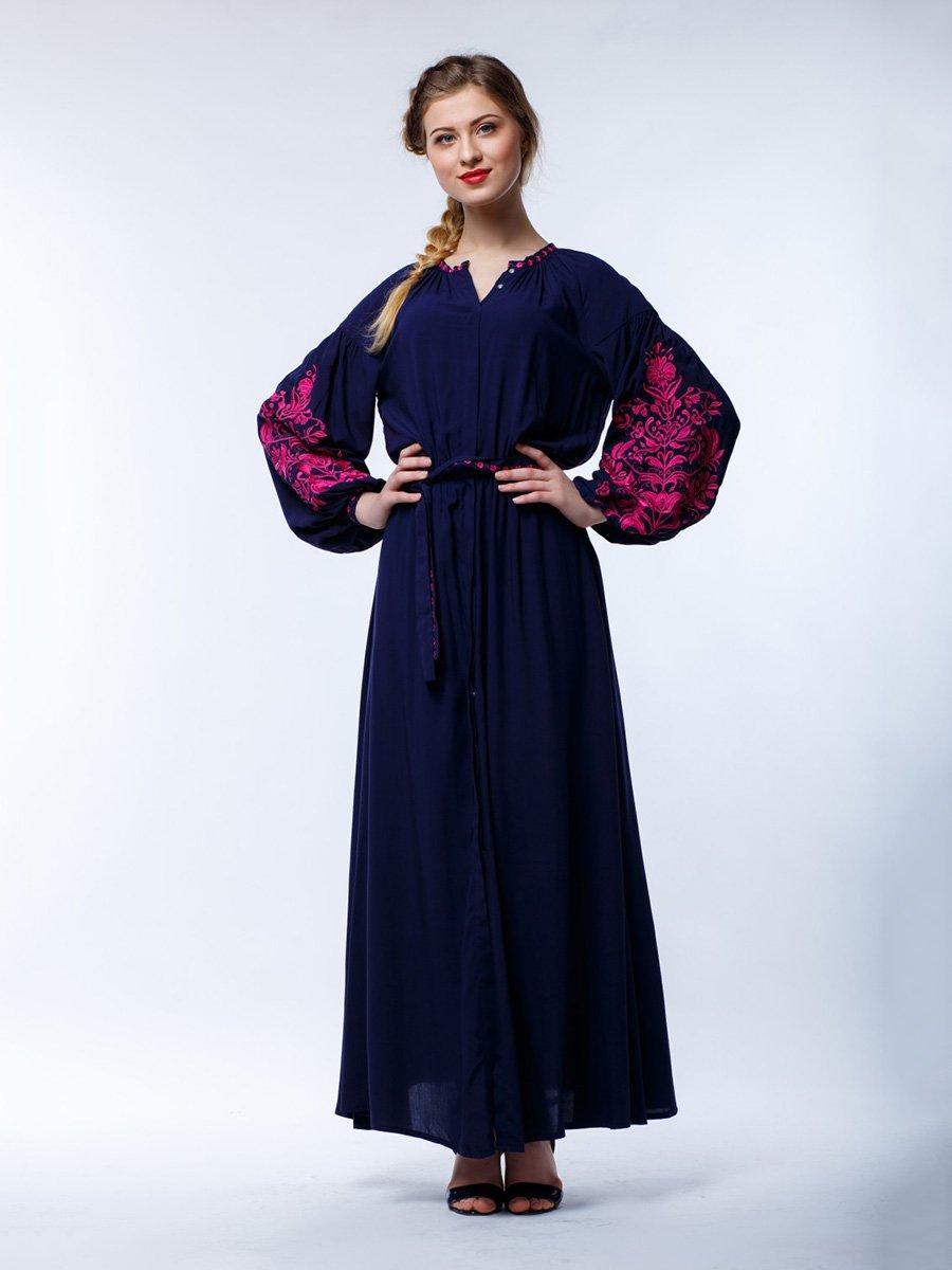 Сукня синя з вишивкою | 3670997