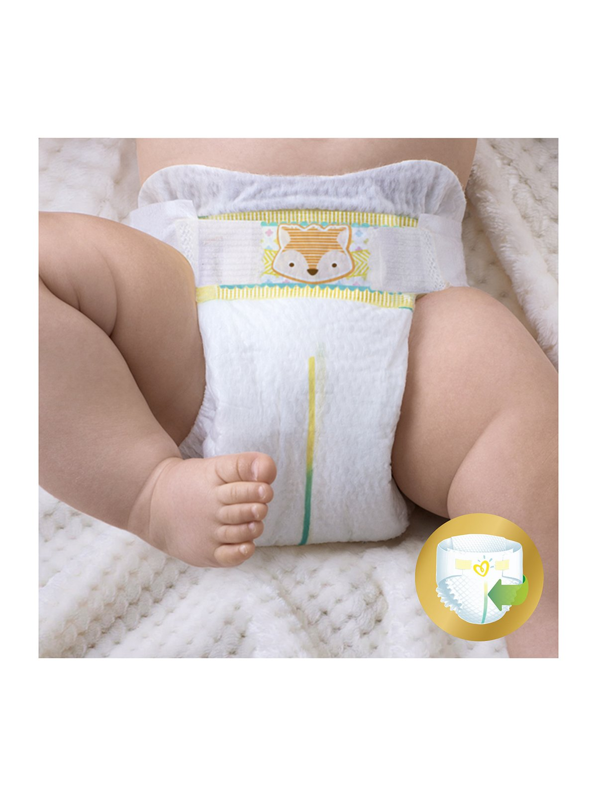 Підгузки Premium Care New Born - розмір 2 (для новонароджених) 3-6 кг (80 шт.) | 3670181 | фото 5