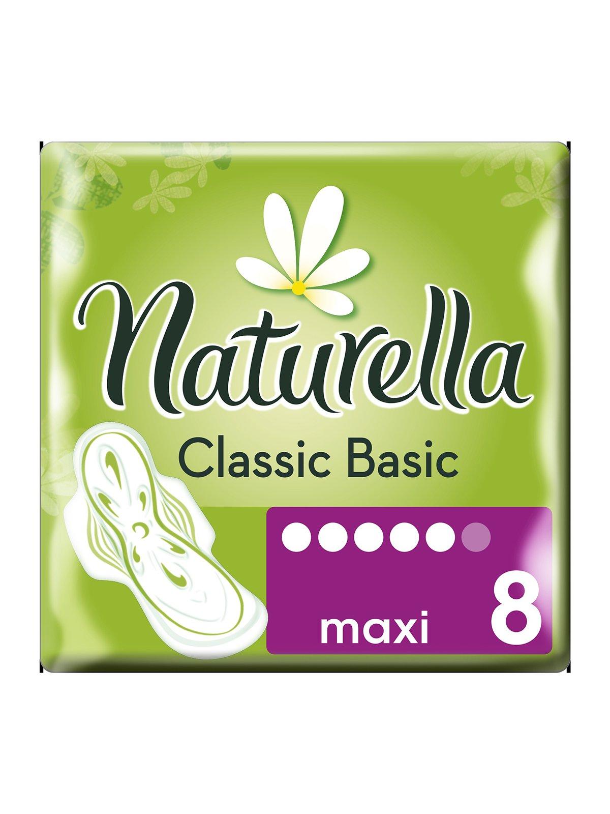 Гигиенические прокладки Classic Basic Maxi c крылышками (8 шт.) | 3670317 | фото 2