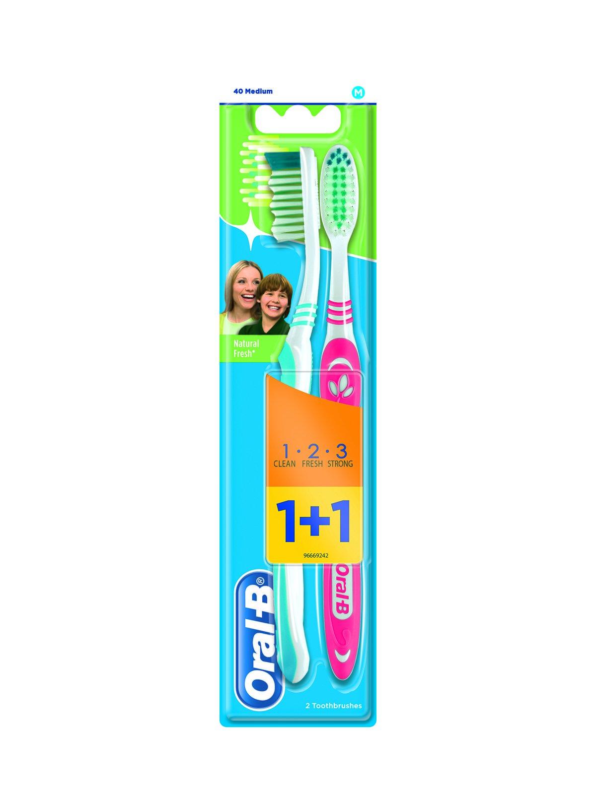 Зубна щітка 3 Ефект «Натуральна свіжість» — середня (1 шт. + 1 шт ... 313e409ea2150