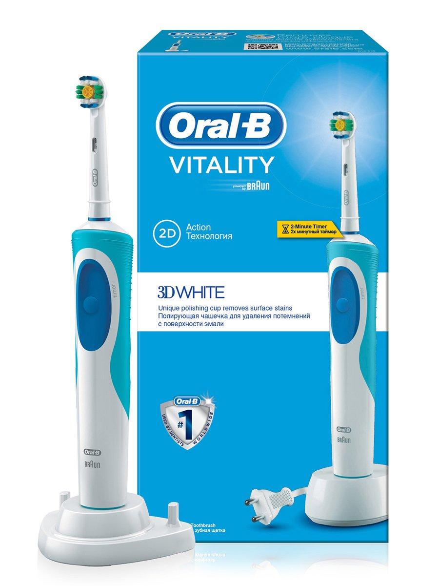 Електрична зубна щітка Vitality 3D White — Oral-B 16665659bb5aa