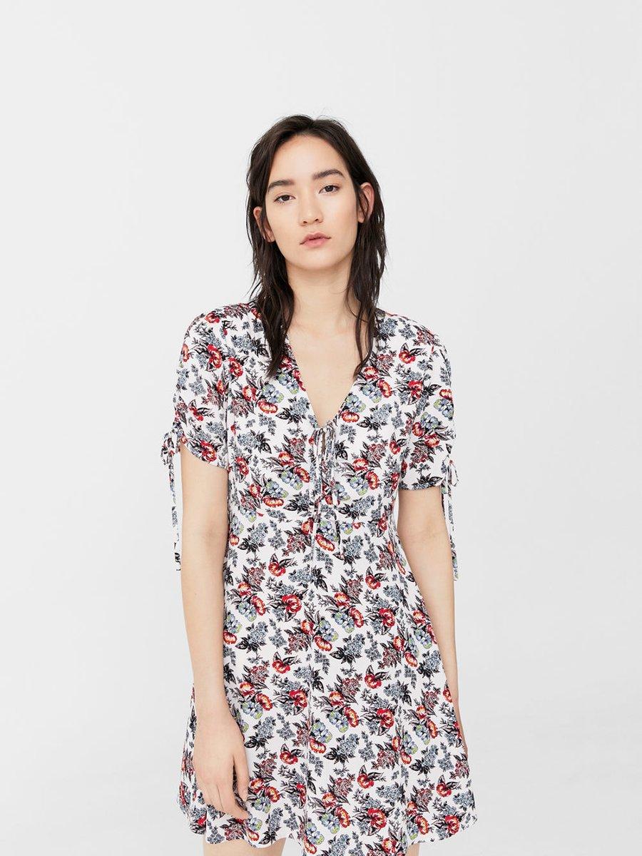 Сукня біла з квітковим принтом | 3549094