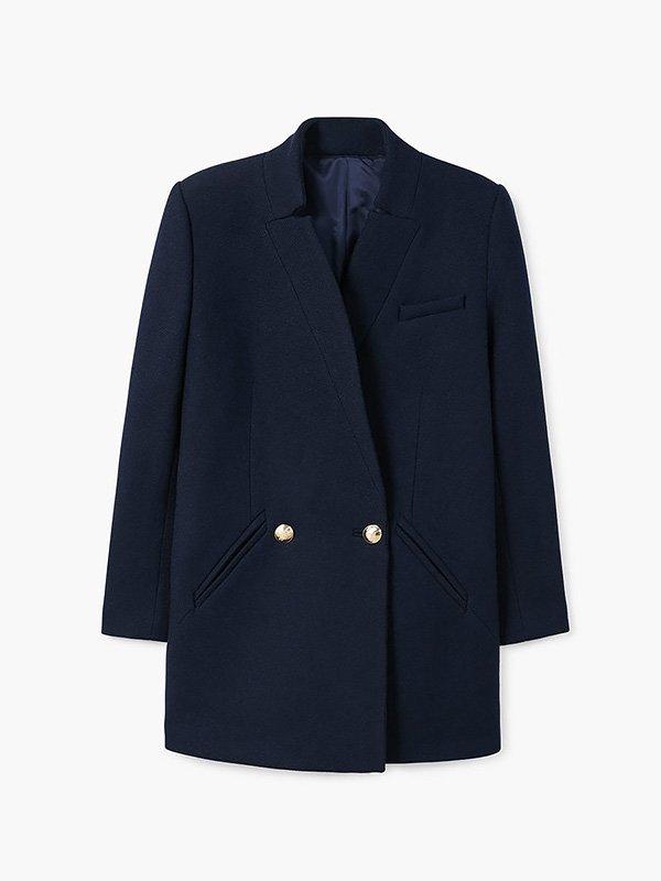 Пальто темно-синее | 3623466 | фото 2