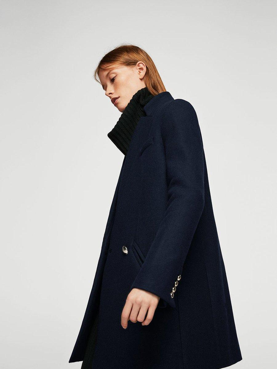 Пальто темно-синее | 3623466 | фото 3