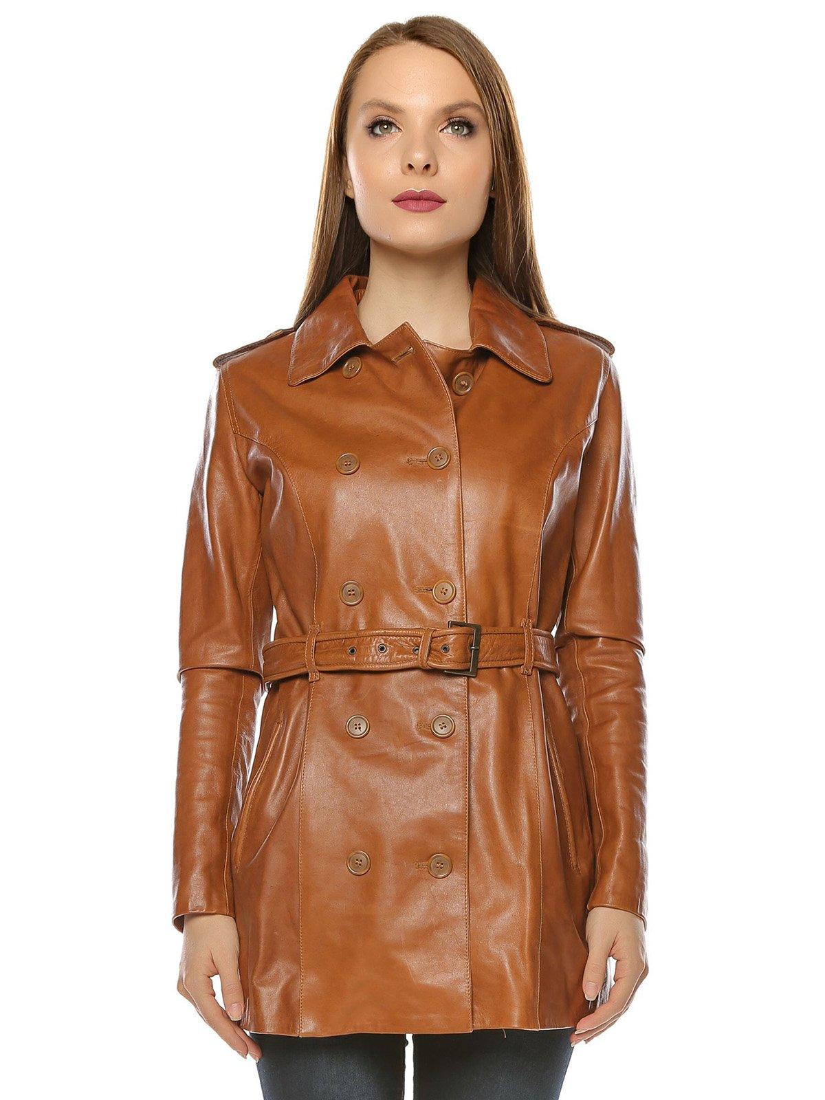 Куртка коньячного цвета | 3674410 | фото 2