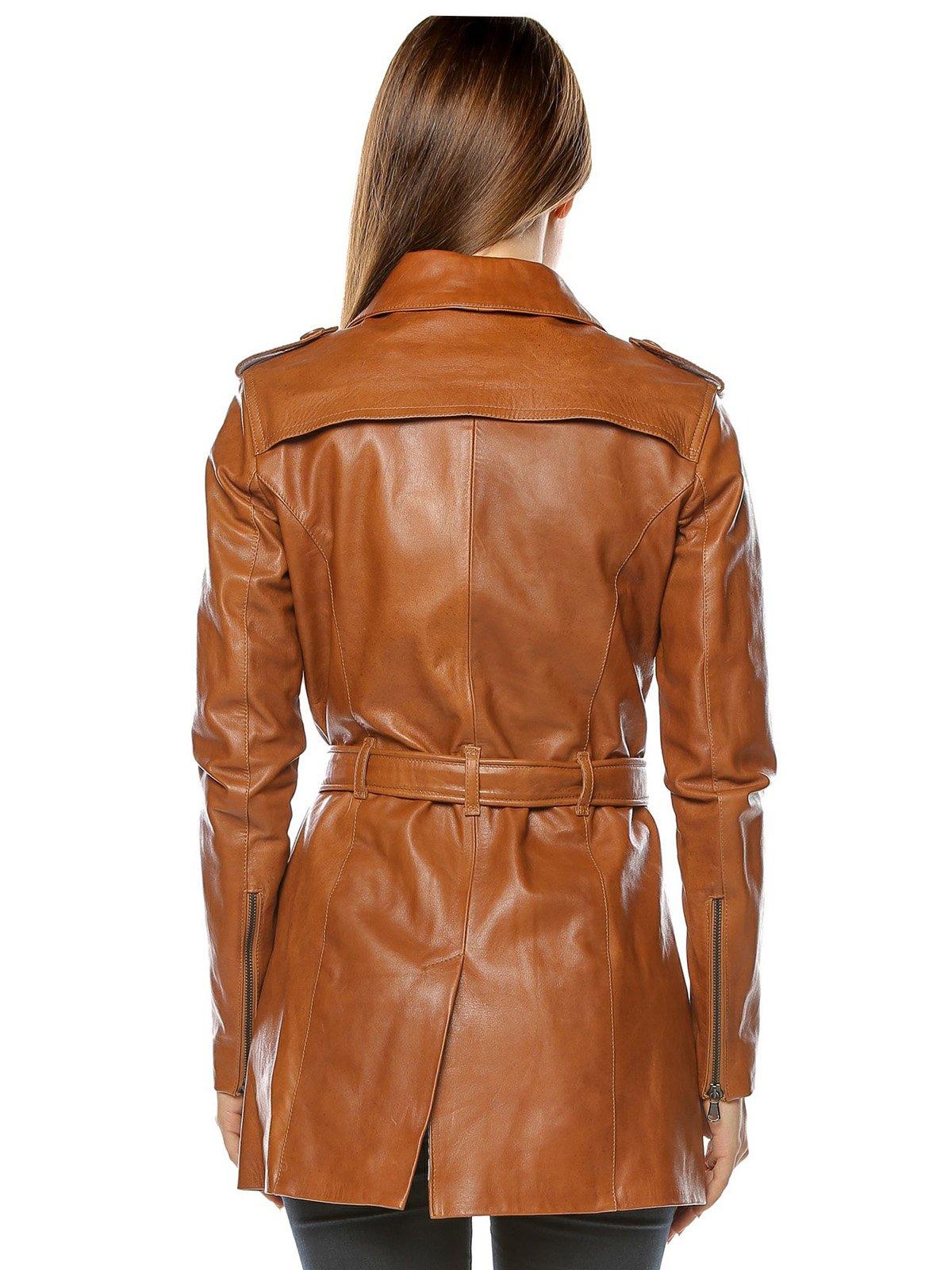 Куртка коньячного цвета | 3674410 | фото 3