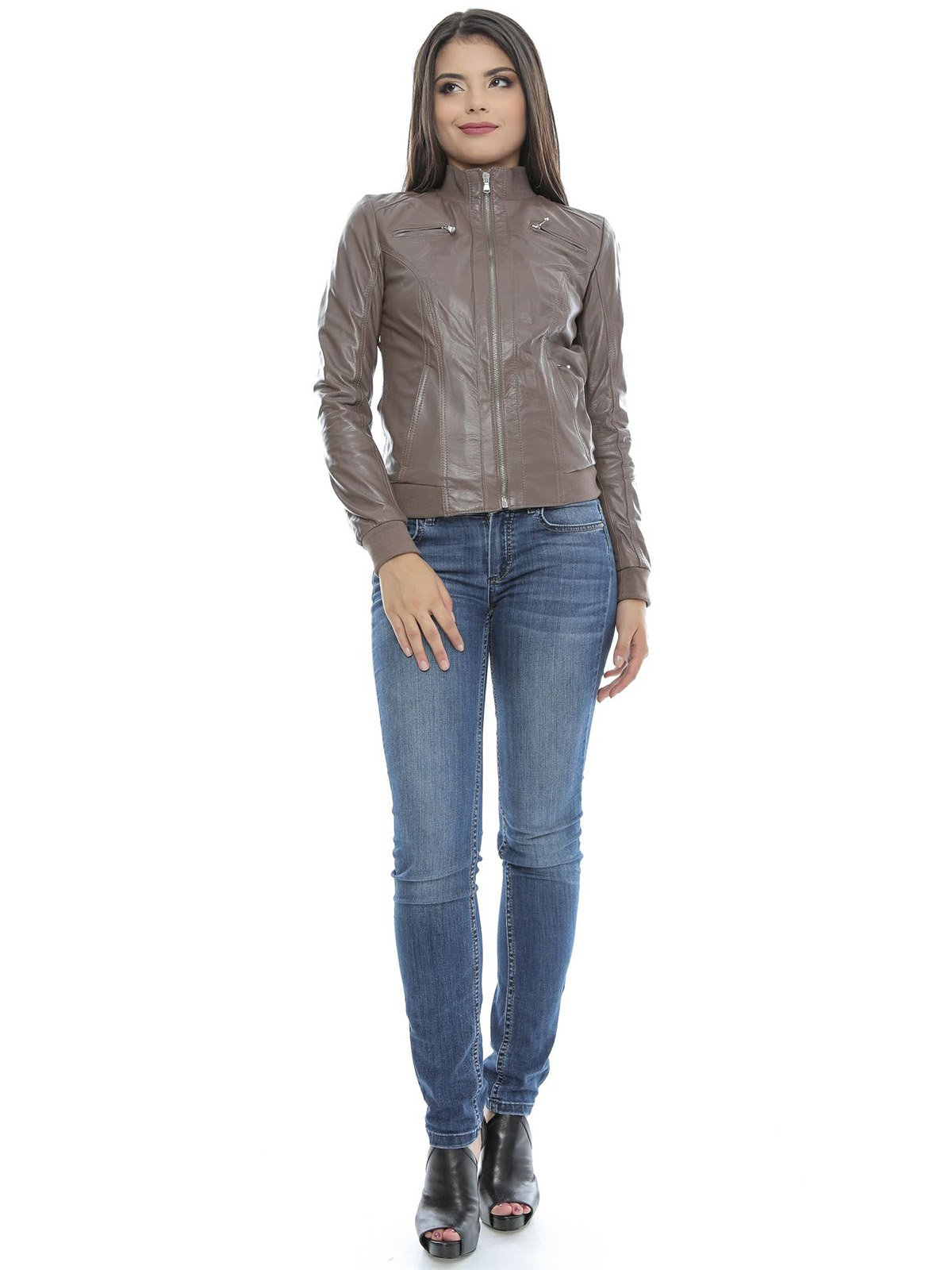 Куртка сіро-коричнева | 3674529