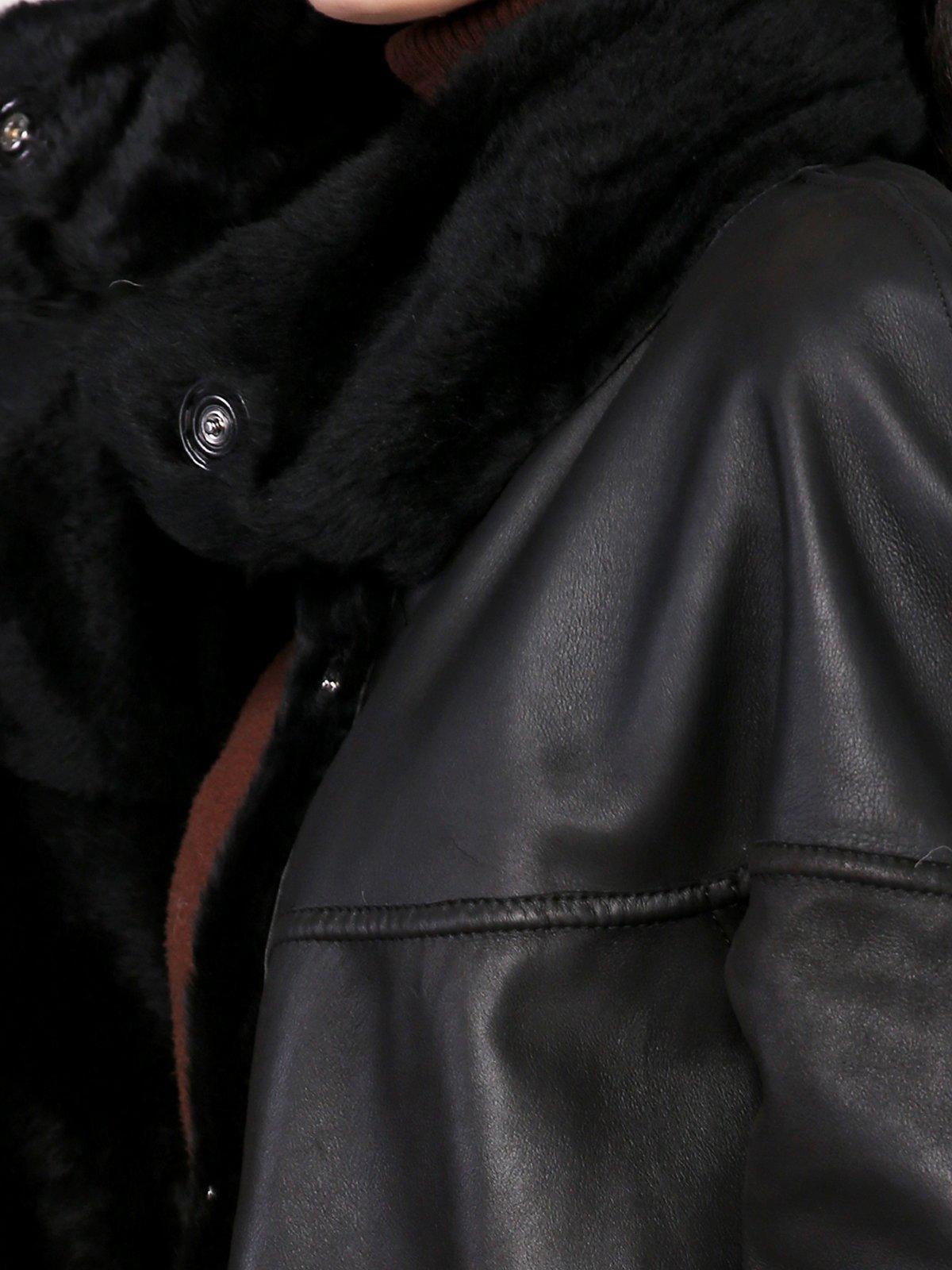 Дубленка черная | 3676055 | фото 3