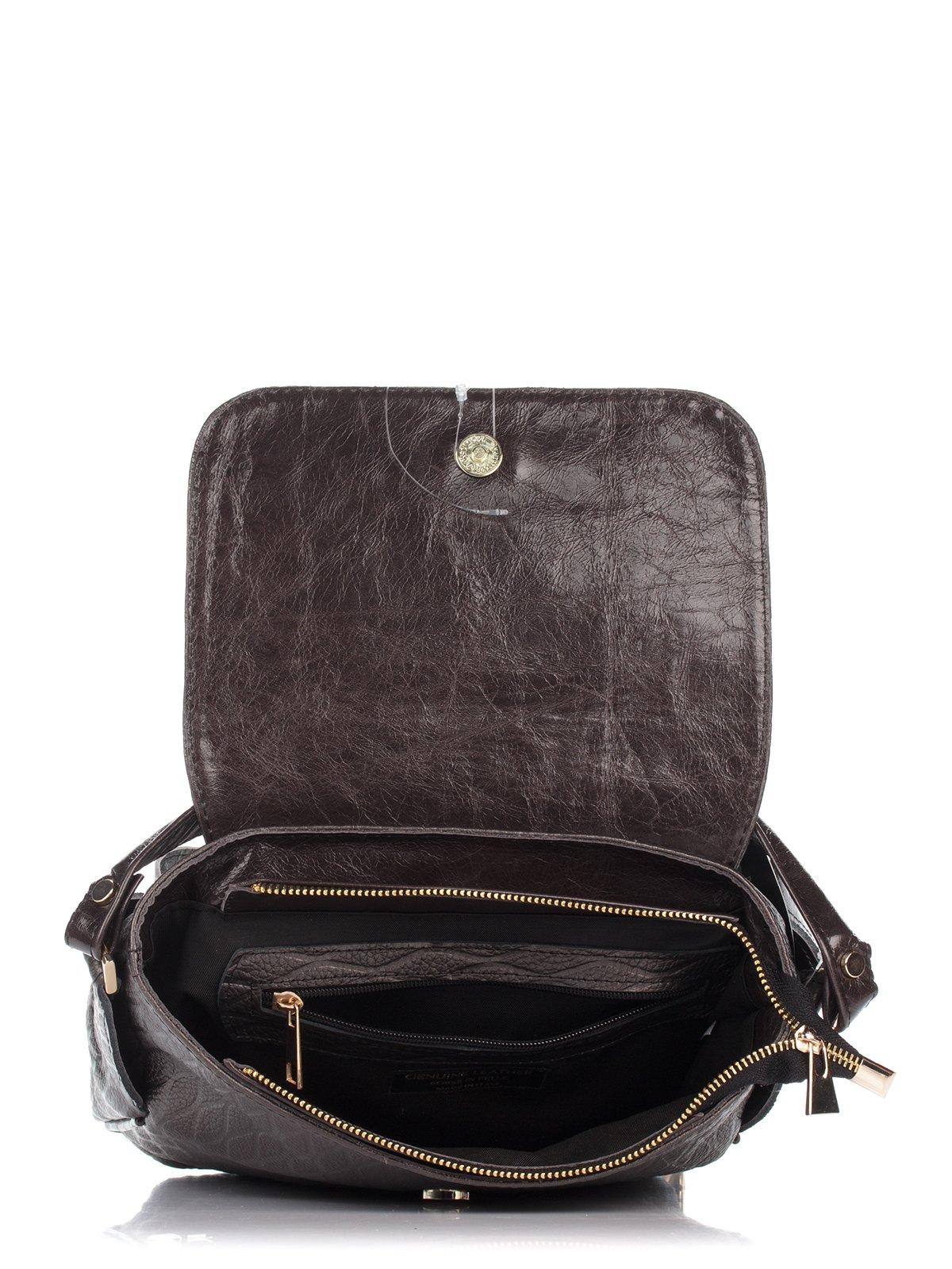 Сумка-рюкзак коричневая | 3681014 | фото 4