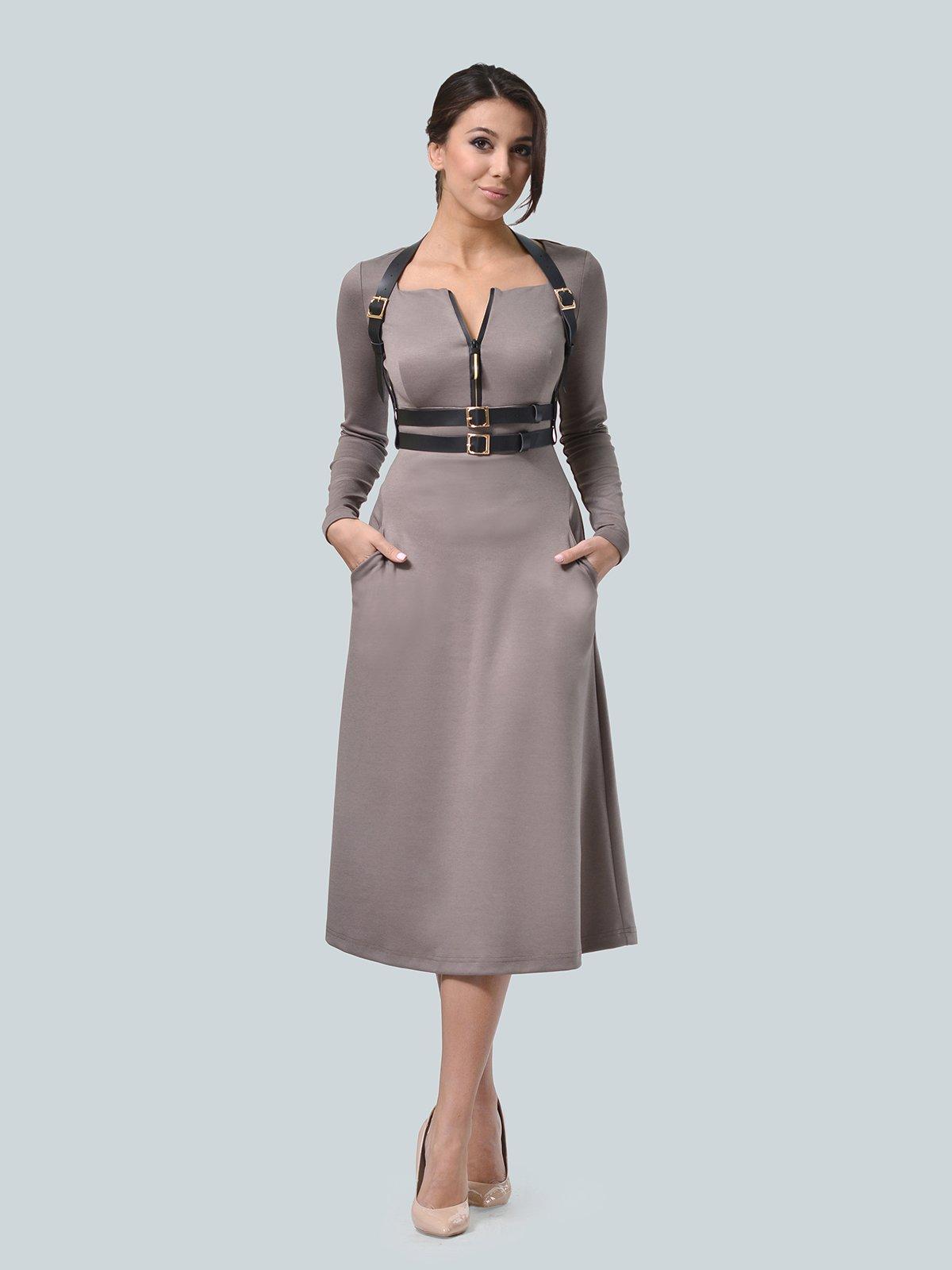 Платье цвета мокко | 3683568
