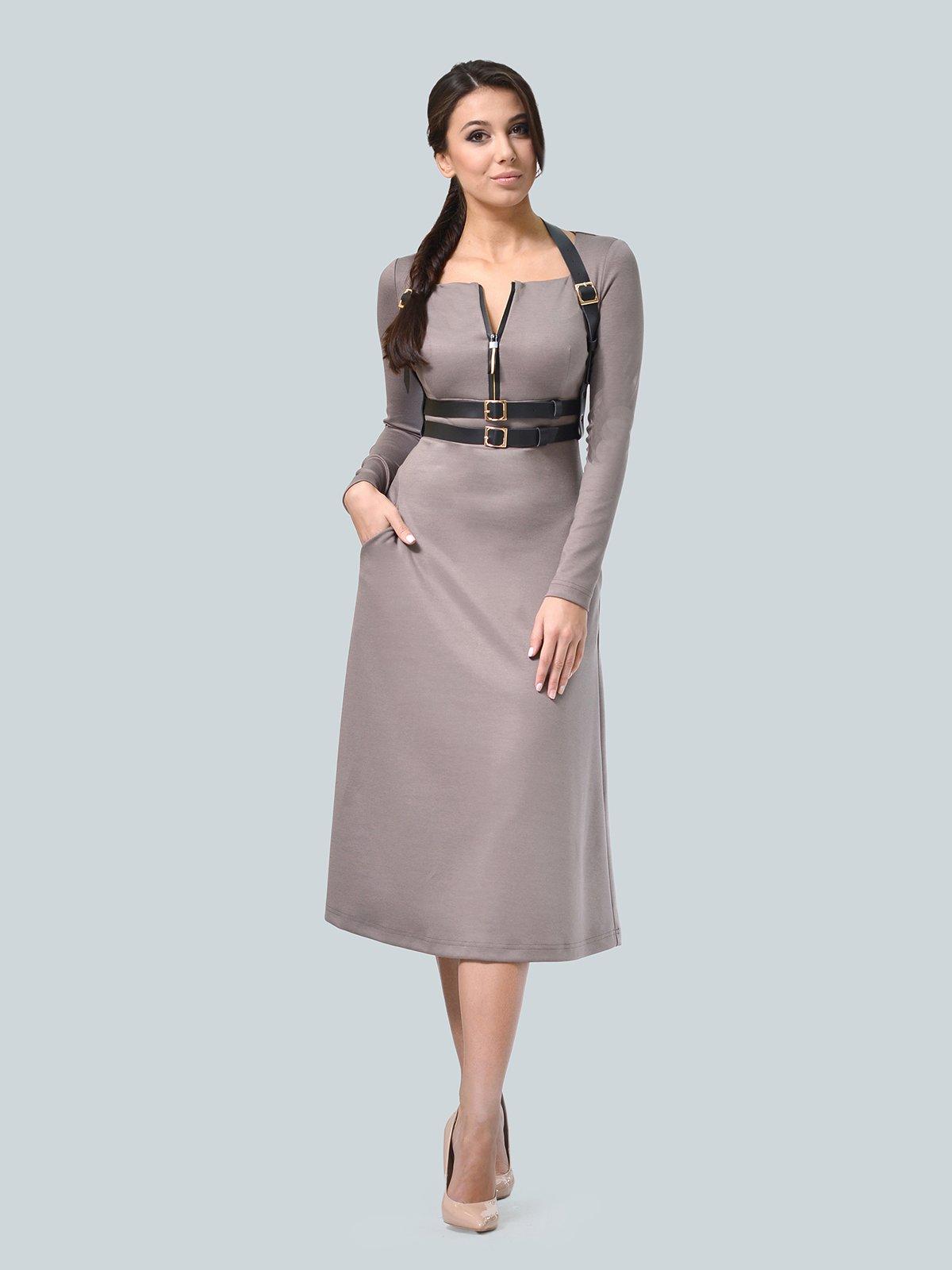Платье цвета мокко | 3683568 | фото 2