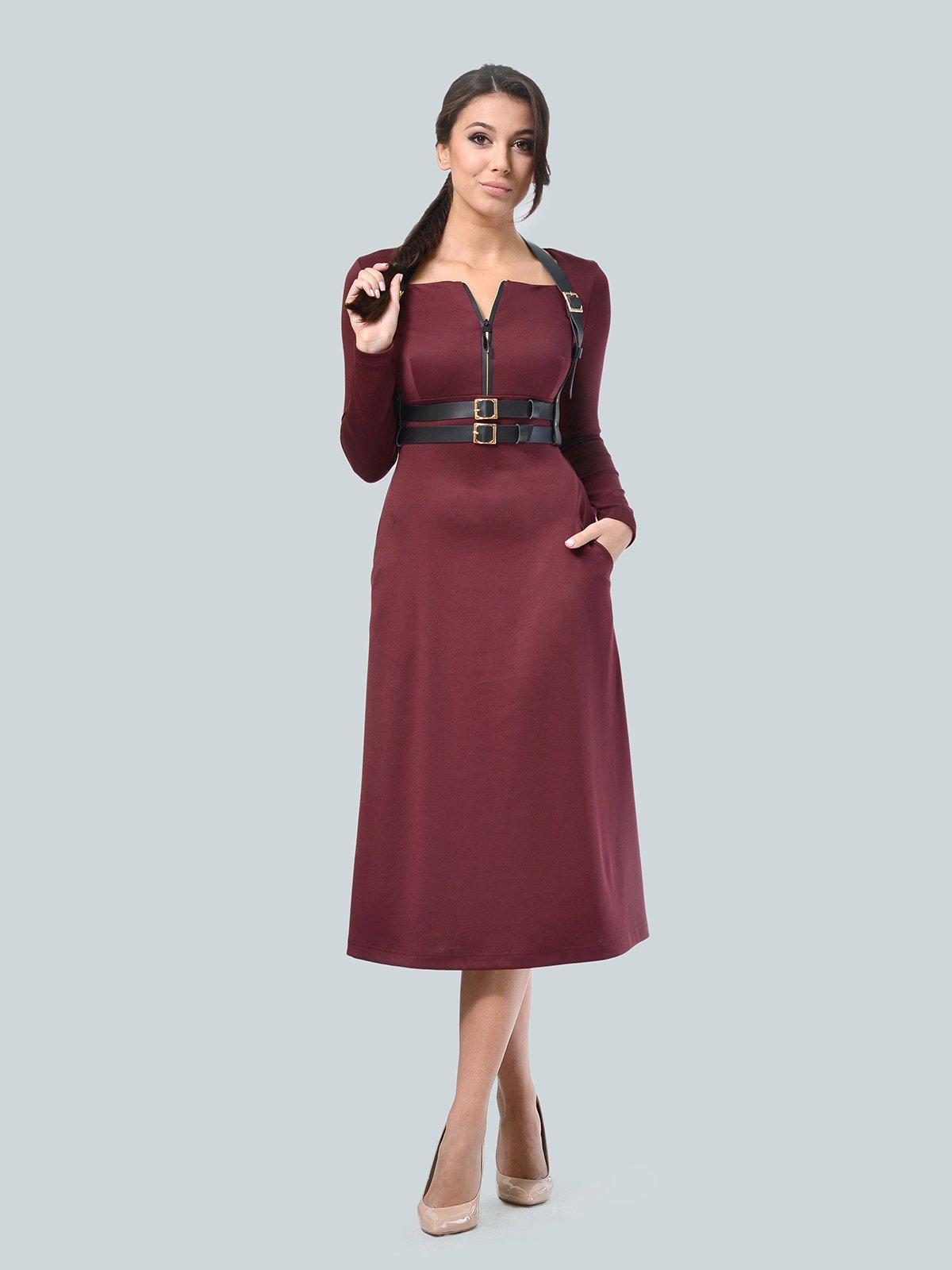Платье бордовое | 3683578