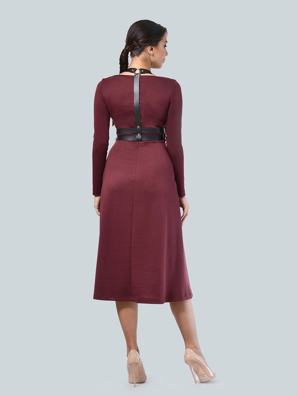 Платье бордовое | 3683578 | фото 2
