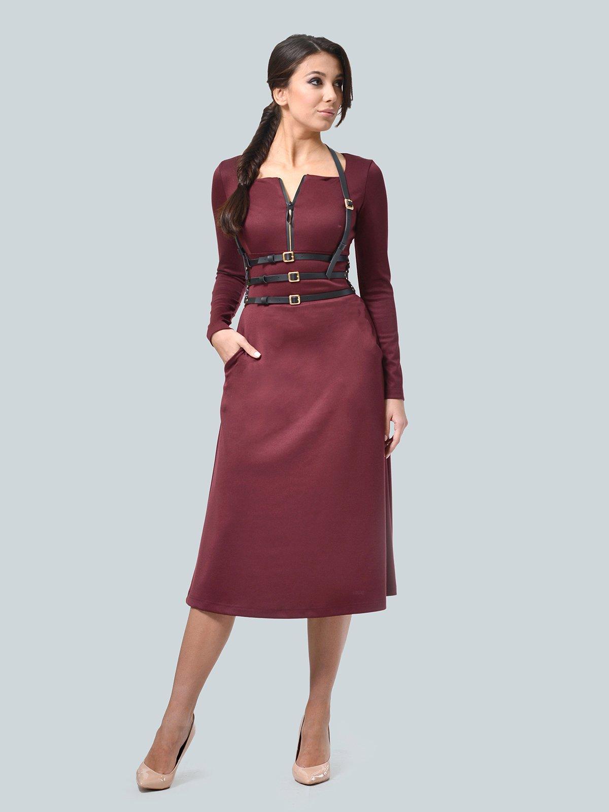 Платье бордовое   3683579