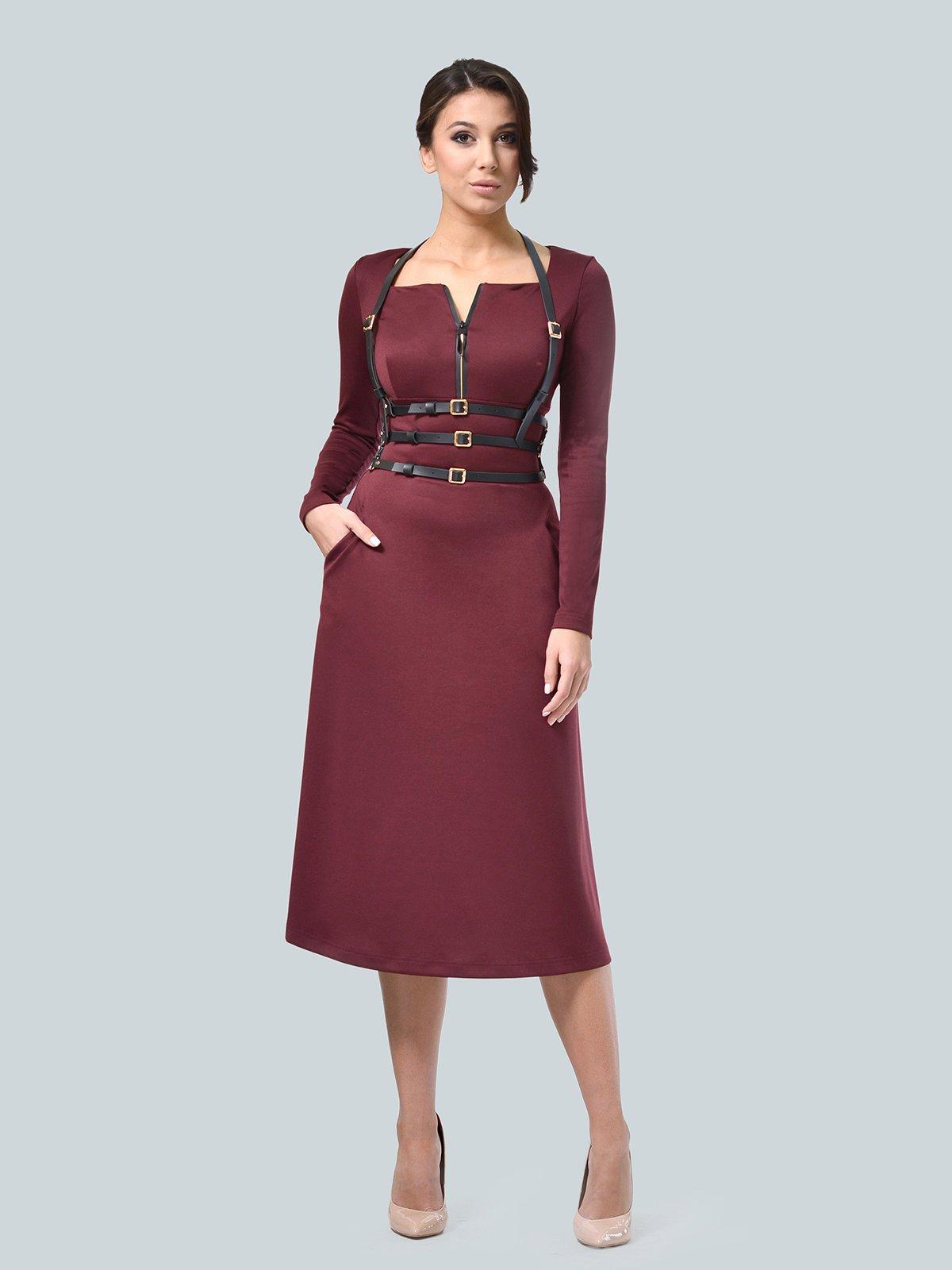 Платье бордовое   3683579   фото 2