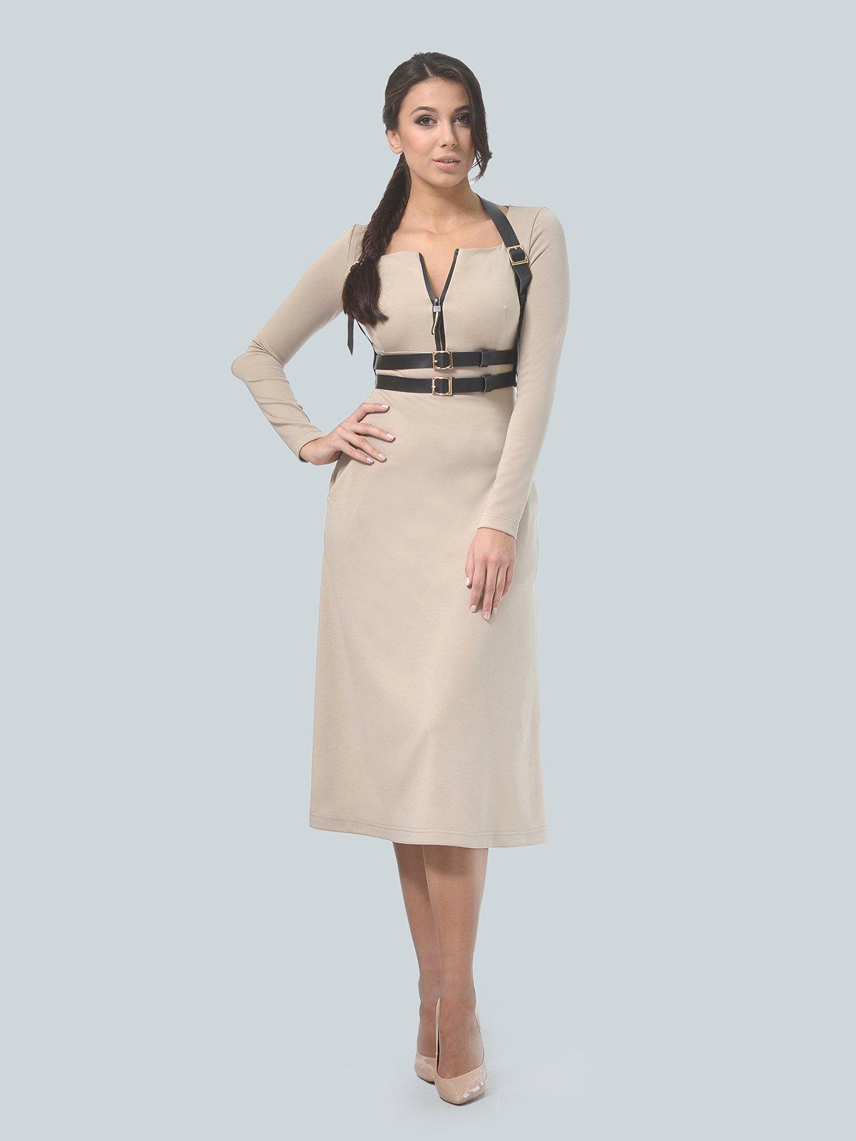 Платье песочного цвета | 3683582