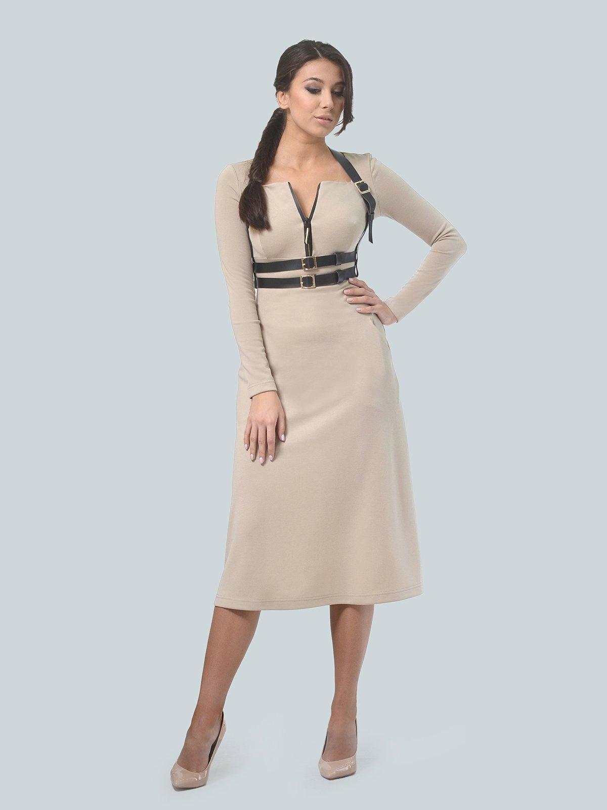 Платье песочного цвета | 3683582 | фото 2