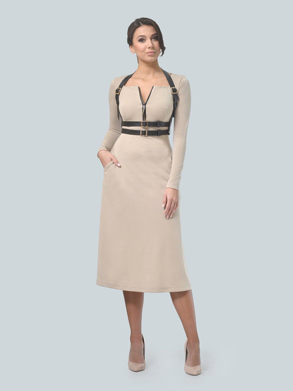 Платье песочного цвета | 3683582 | фото 3