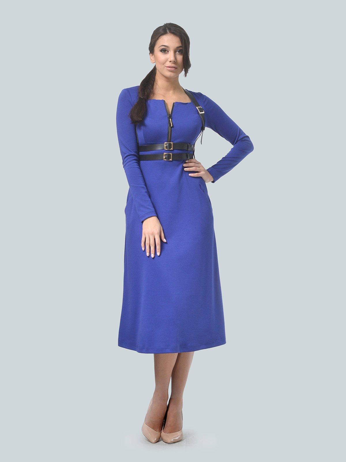 Платье цвета электрик | 3683584 | фото 3