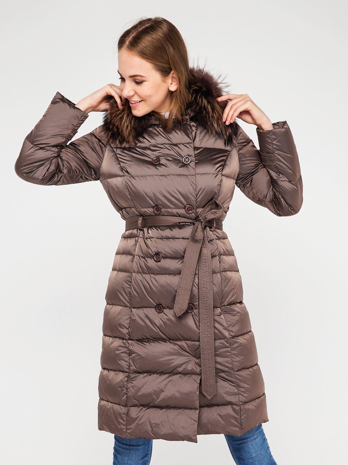 Пальто серо-коричневого цвета | 3682866 | фото 3