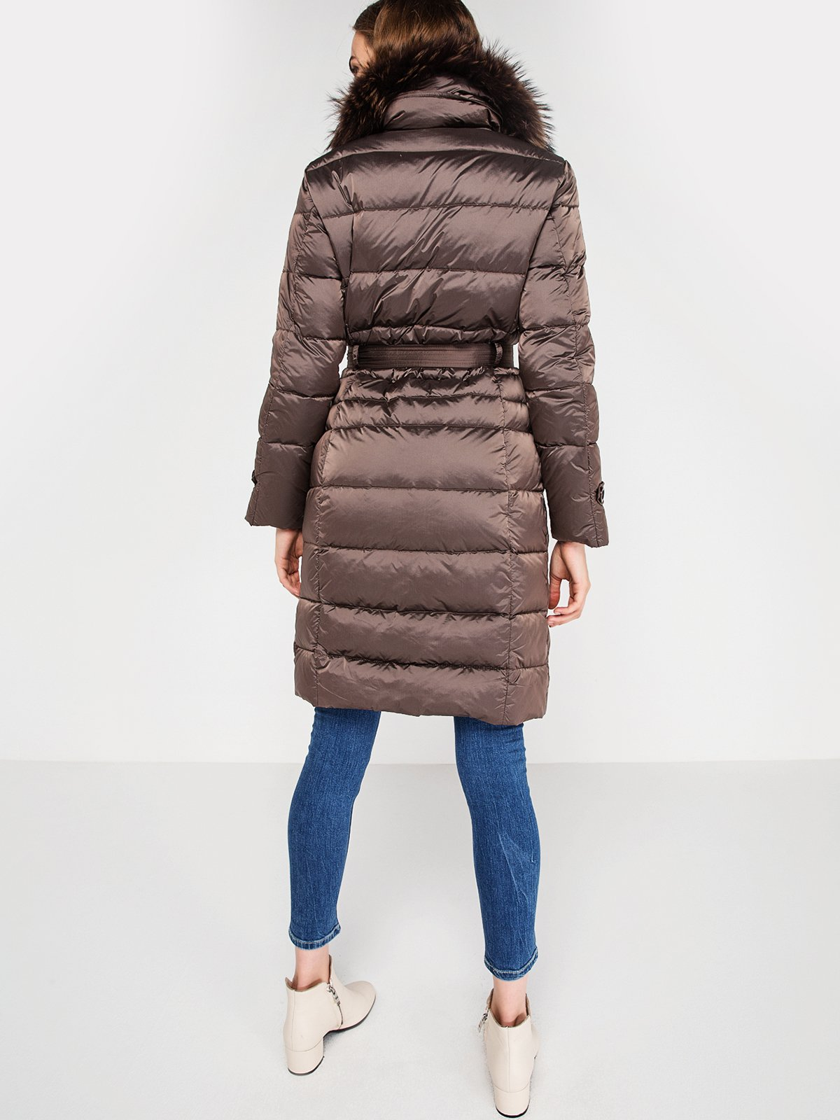 Пальто серо-коричневого цвета | 3682866 | фото 4