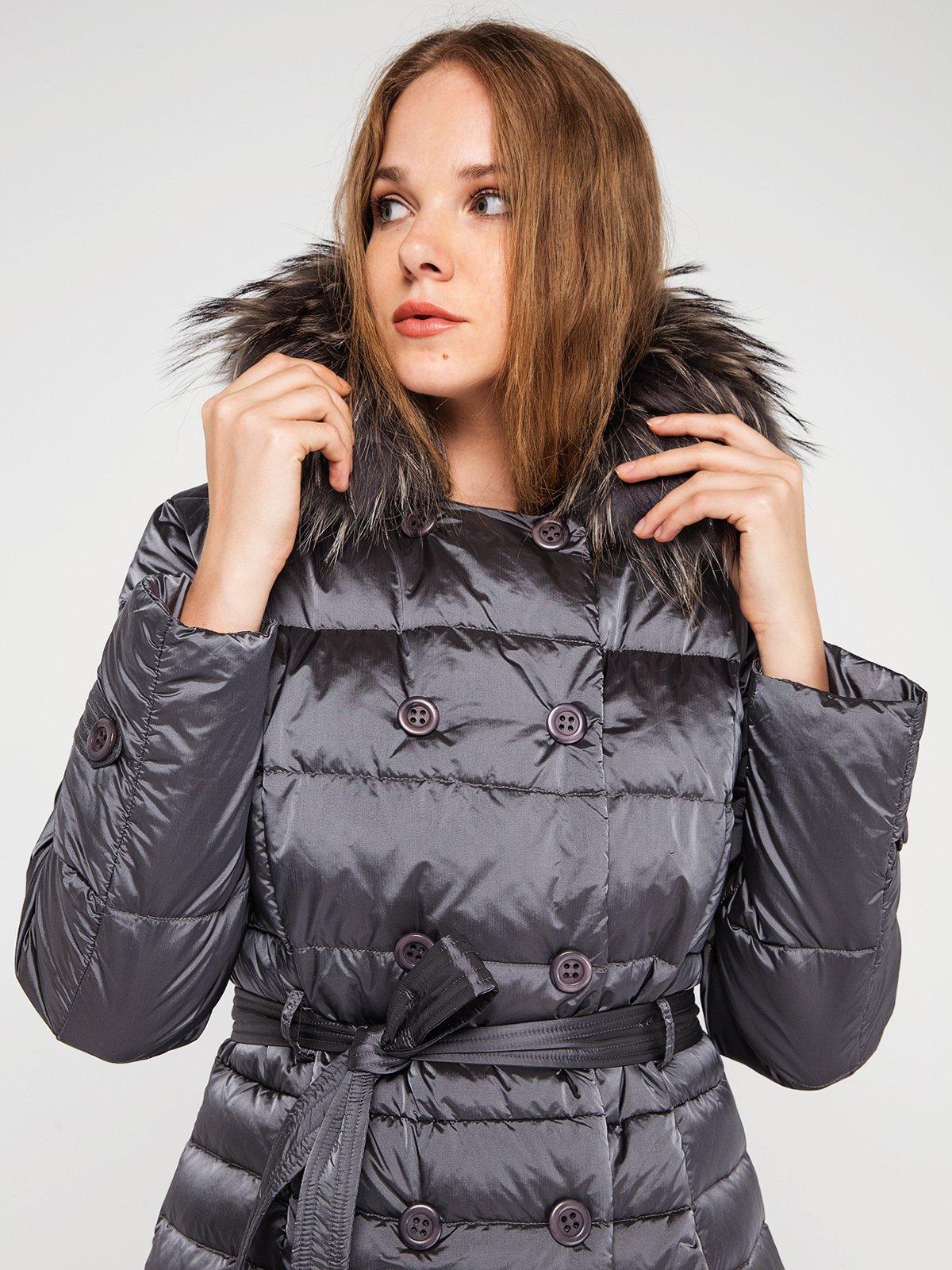Пальто серое | 3682870 | фото 2