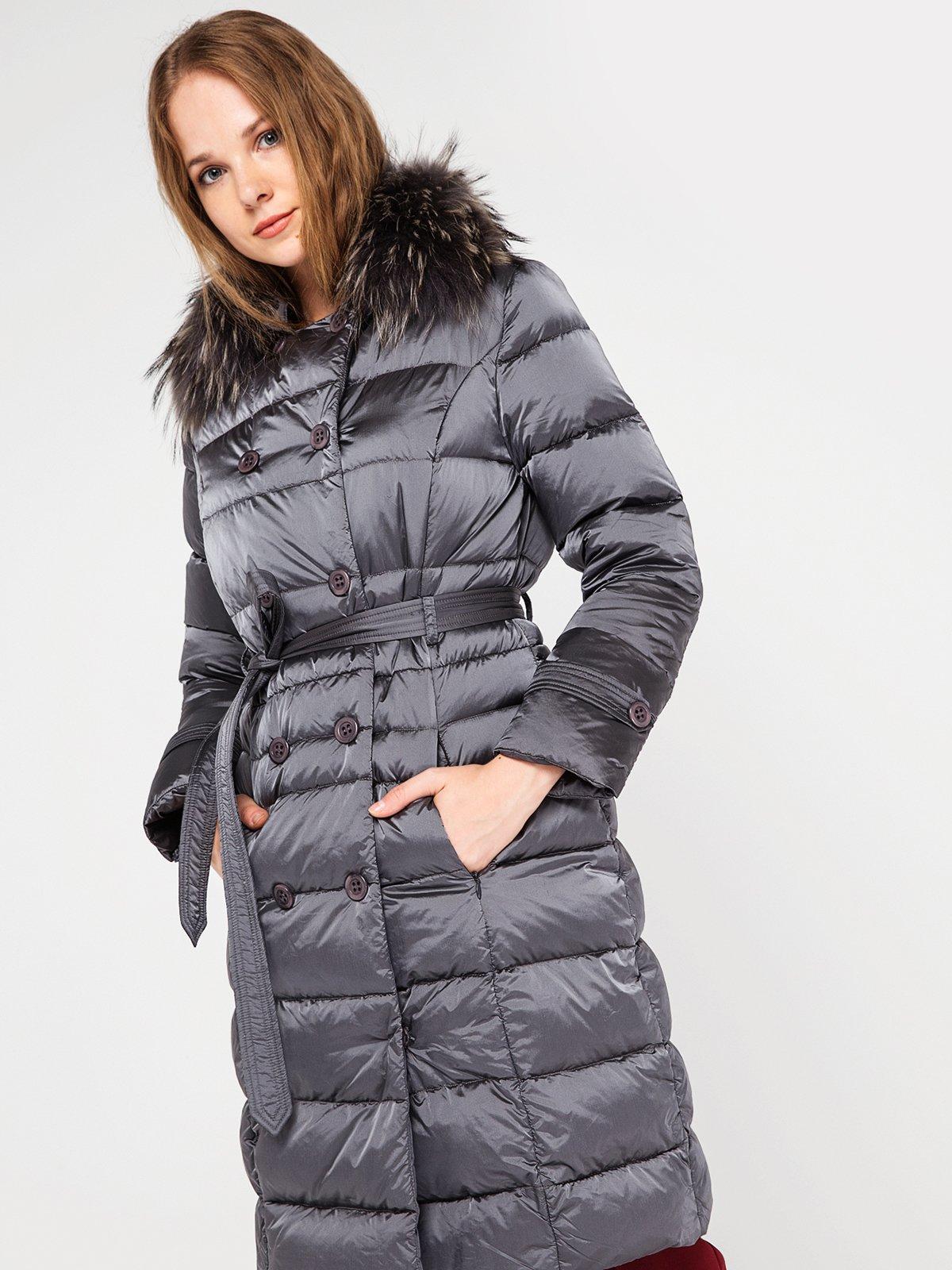 Пальто серое | 3682870 | фото 3