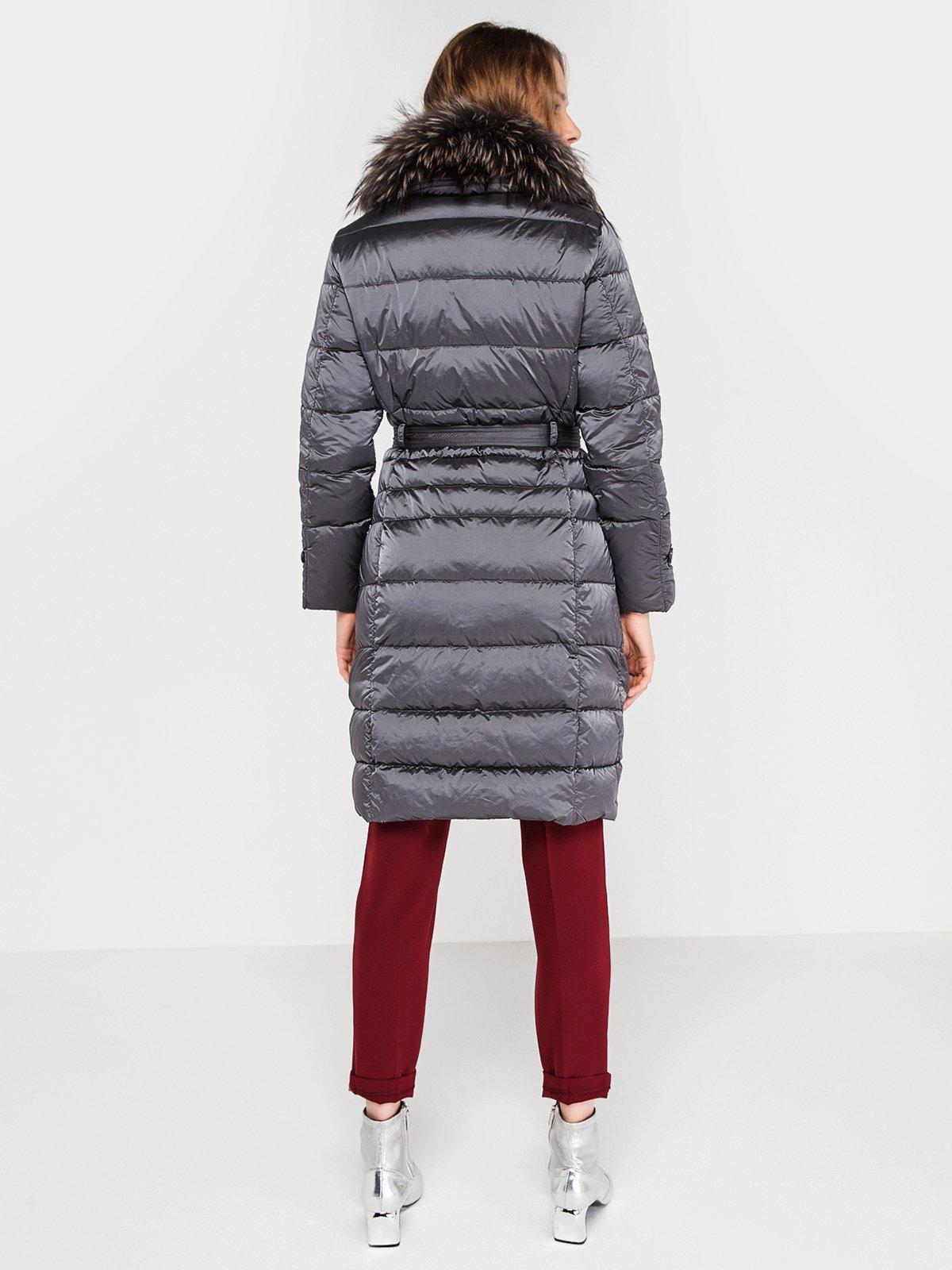 Пальто серое | 3682870 | фото 4
