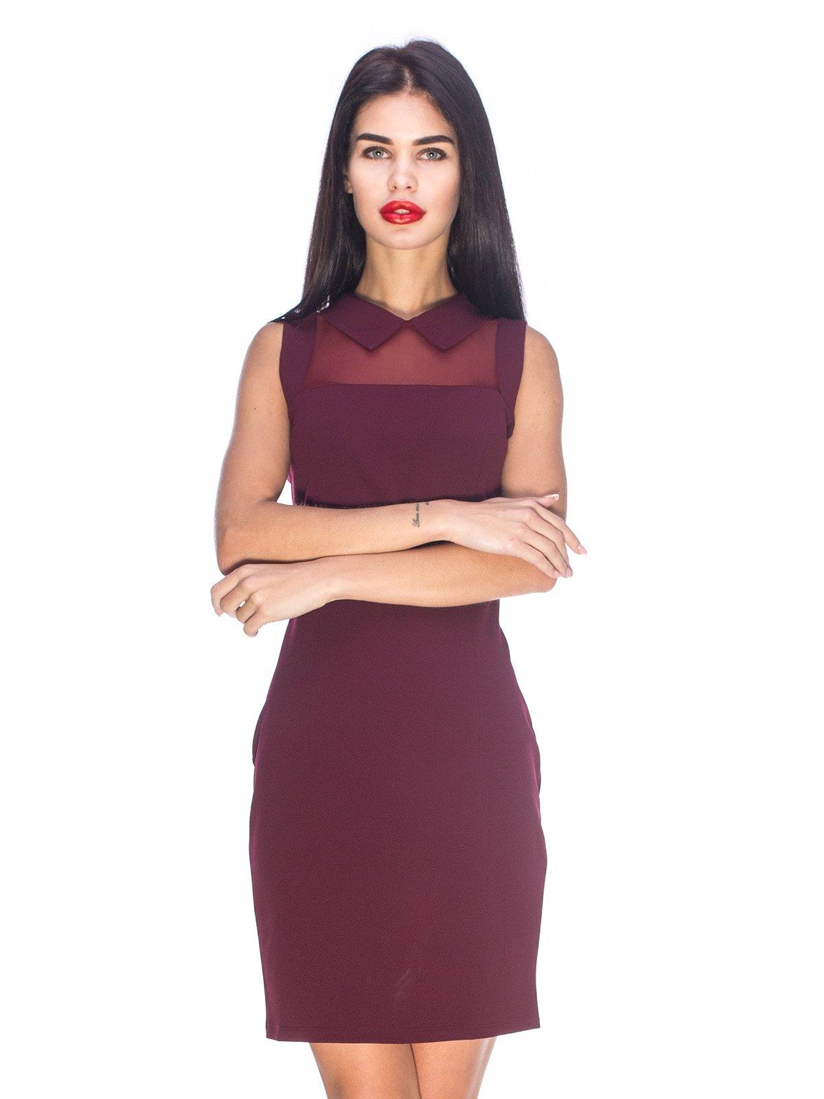 Сукня кольору марсала | 3656997