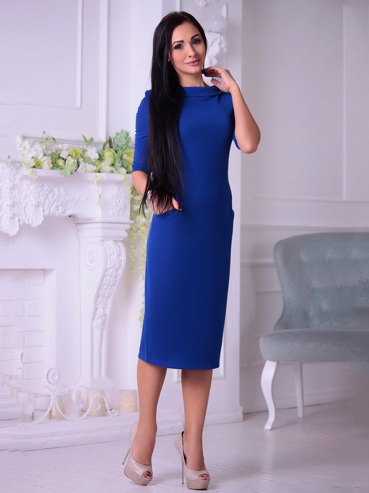Платье цвета электрик | 3692767