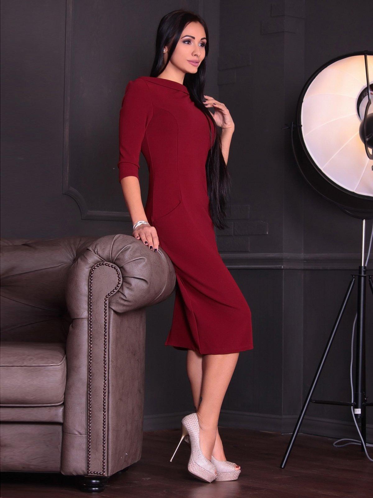 Платье сливового цвета | 3692769
