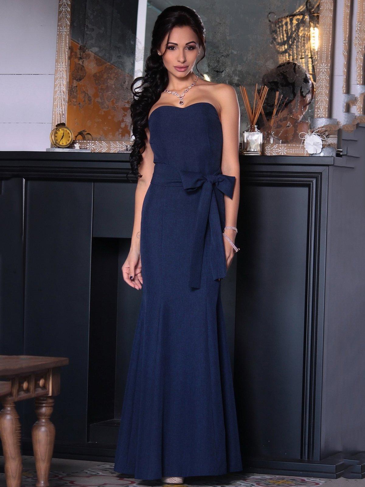 Платье темно-синее | 3692778