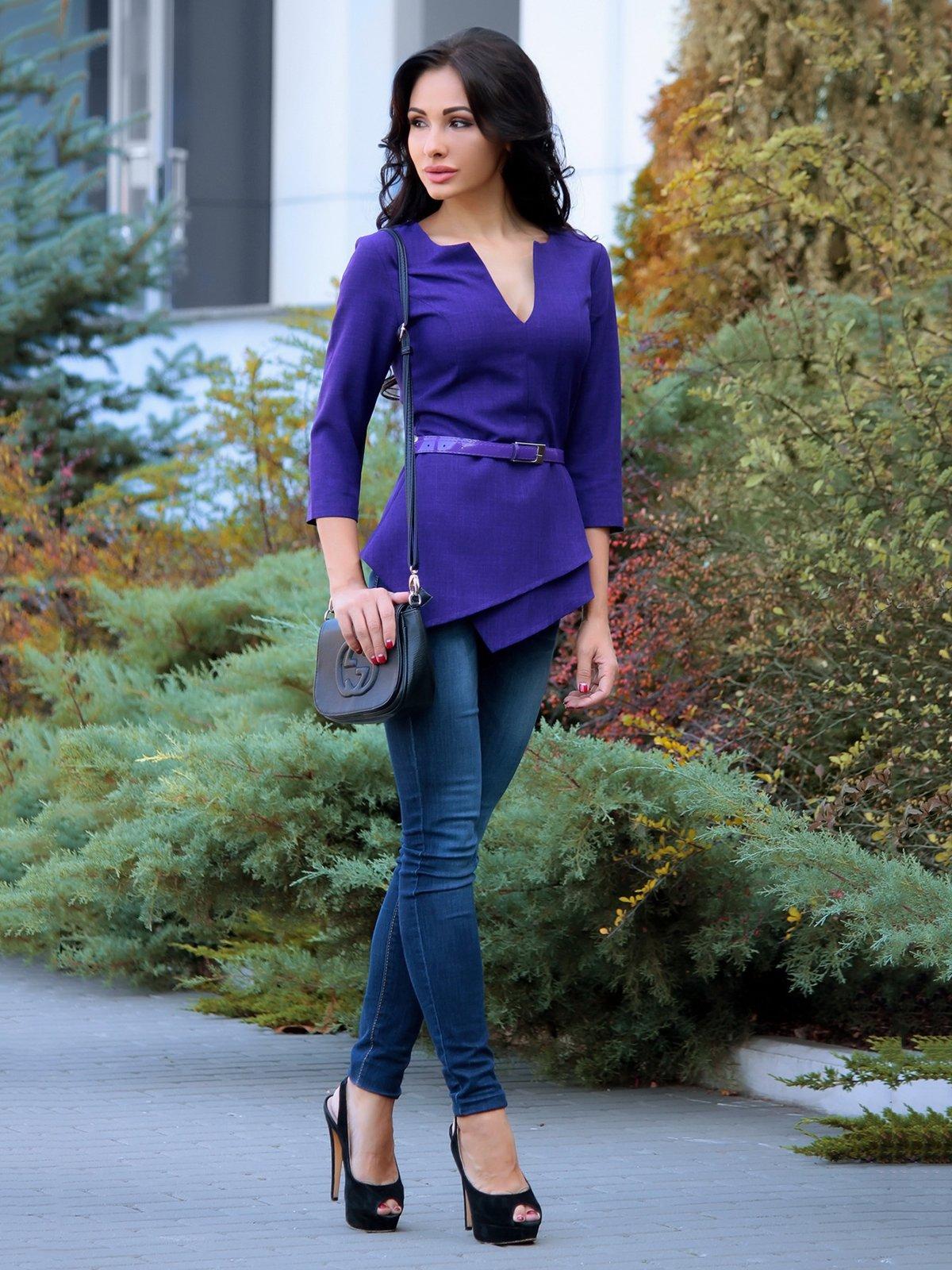 Блуза темно-фіолетова | 3692781