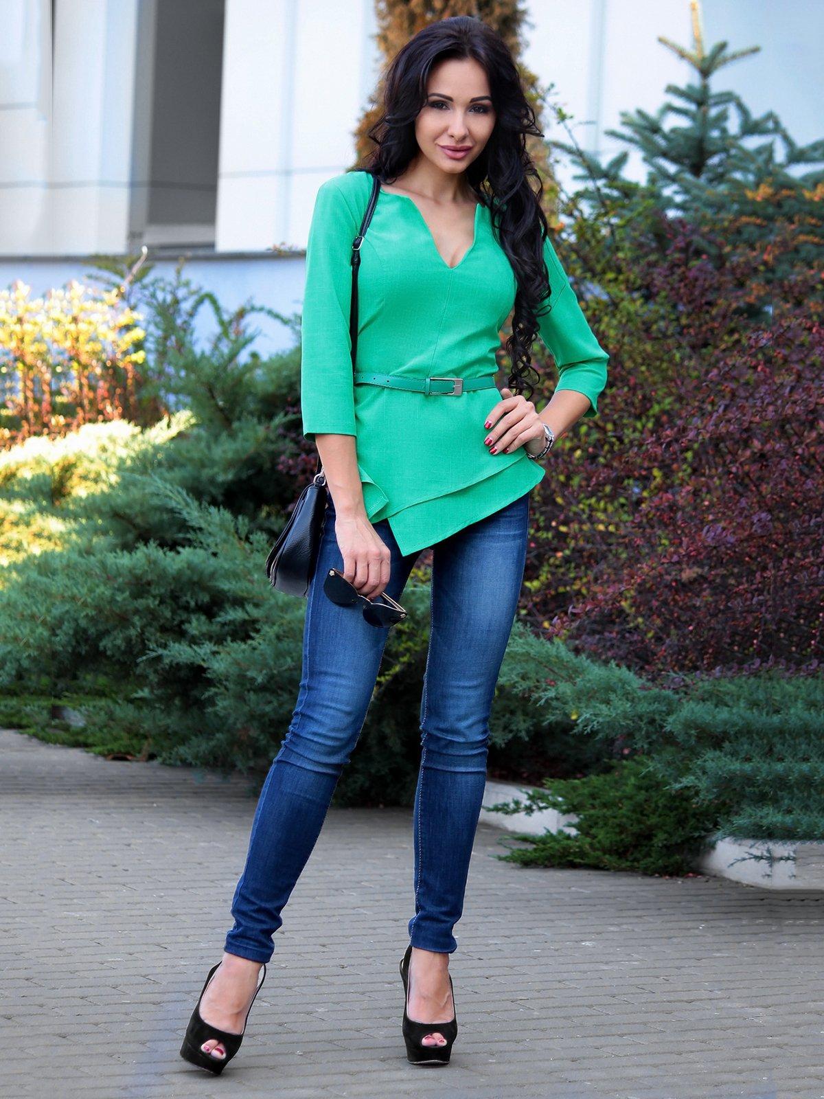 Блуза зеленая | 3692782