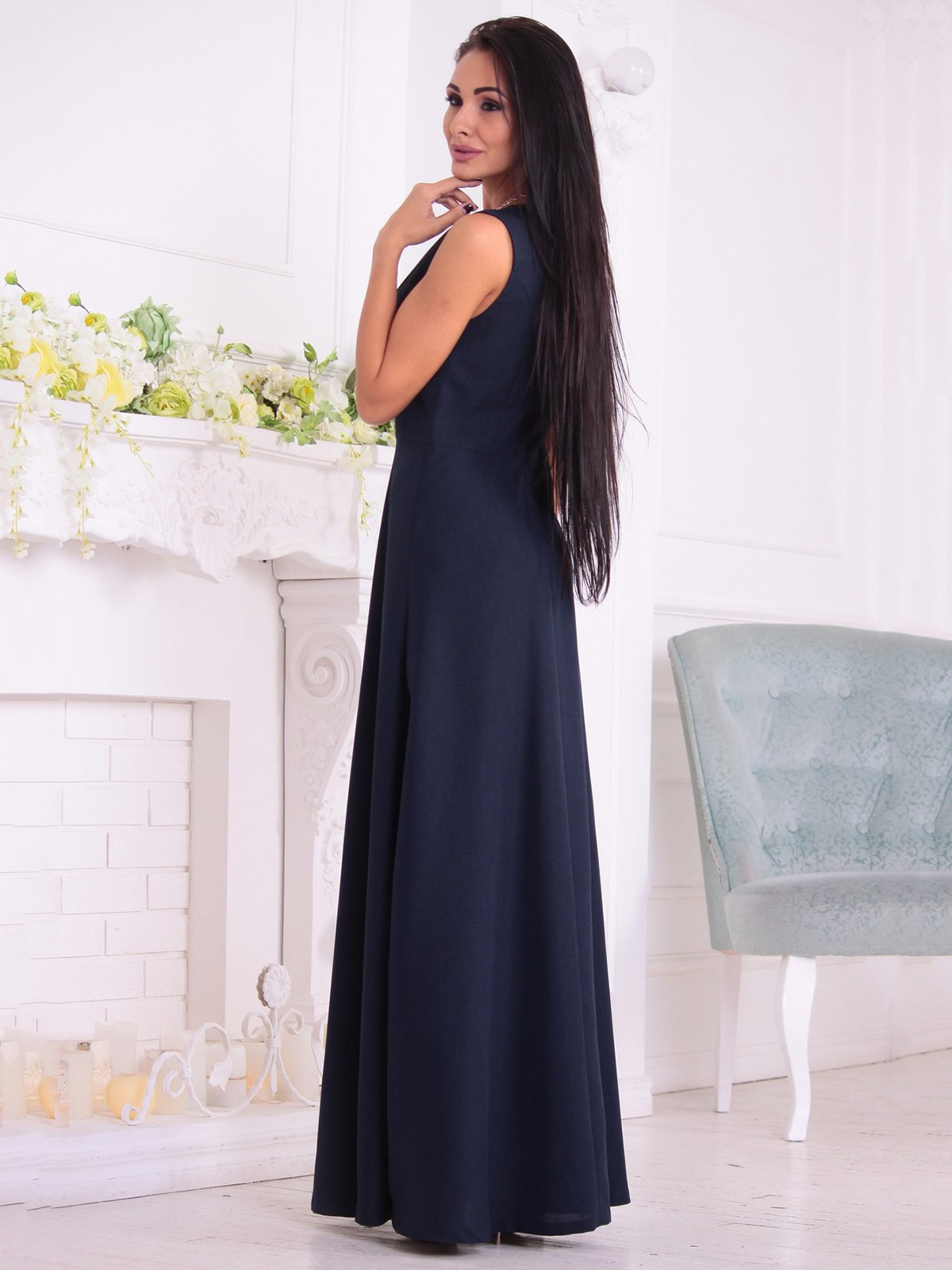 Платье темно-синее | 3692792 | фото 2