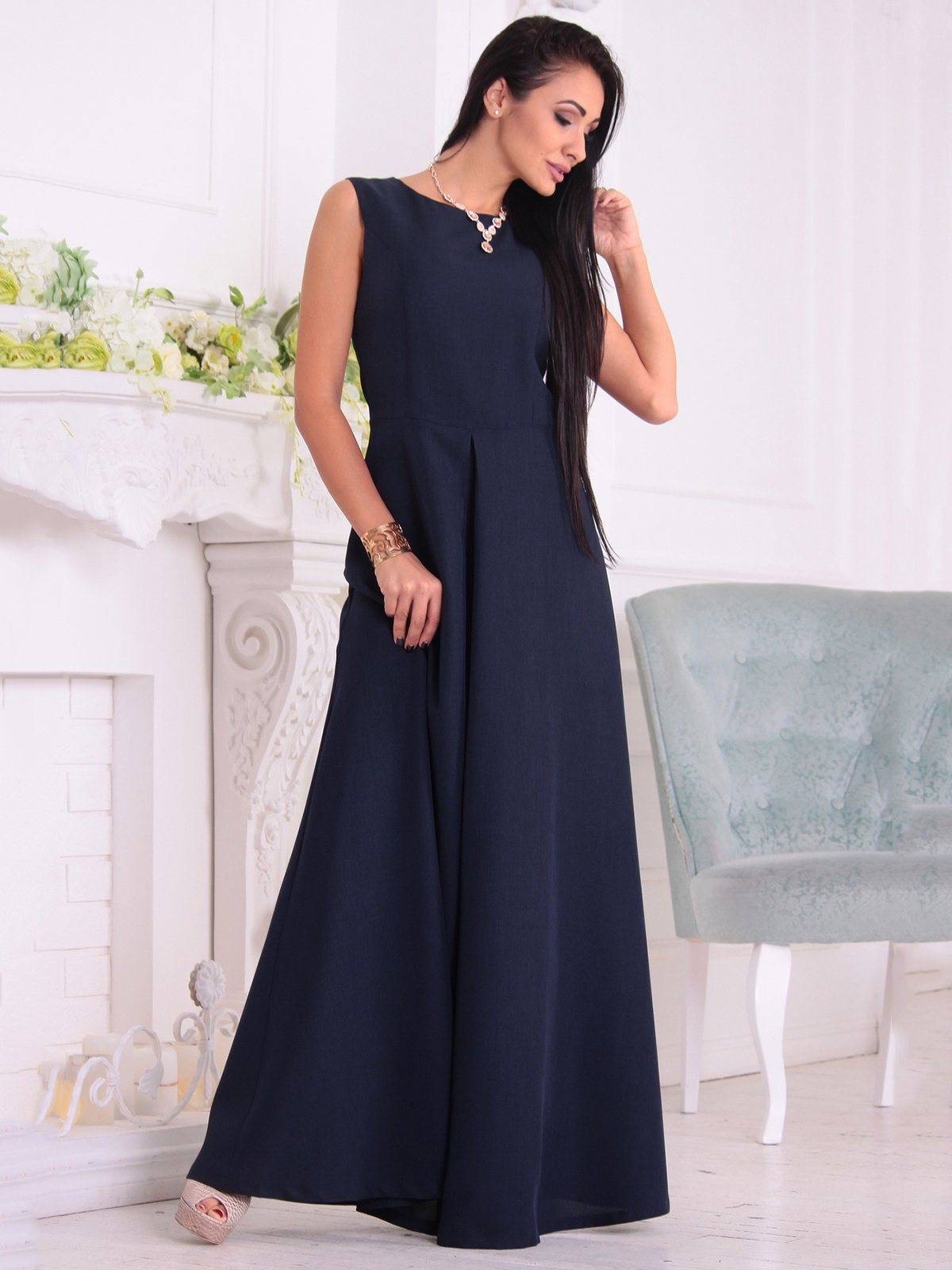 Платье темно-синее | 3692792 | фото 3