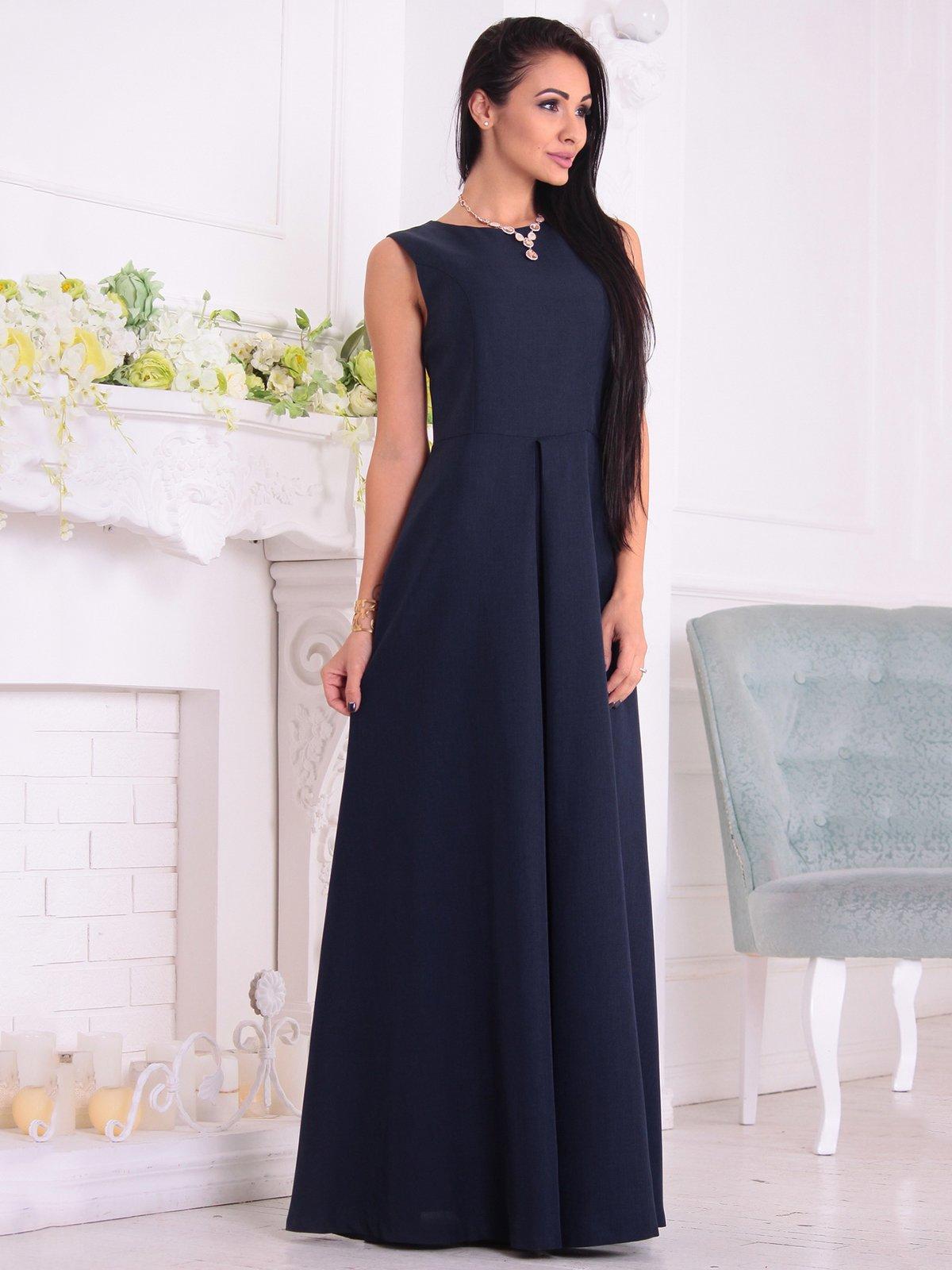 Платье темно-синее | 3692792 | фото 4