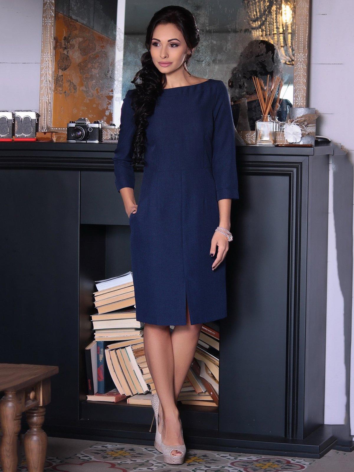 Платье темно-синее | 3692811